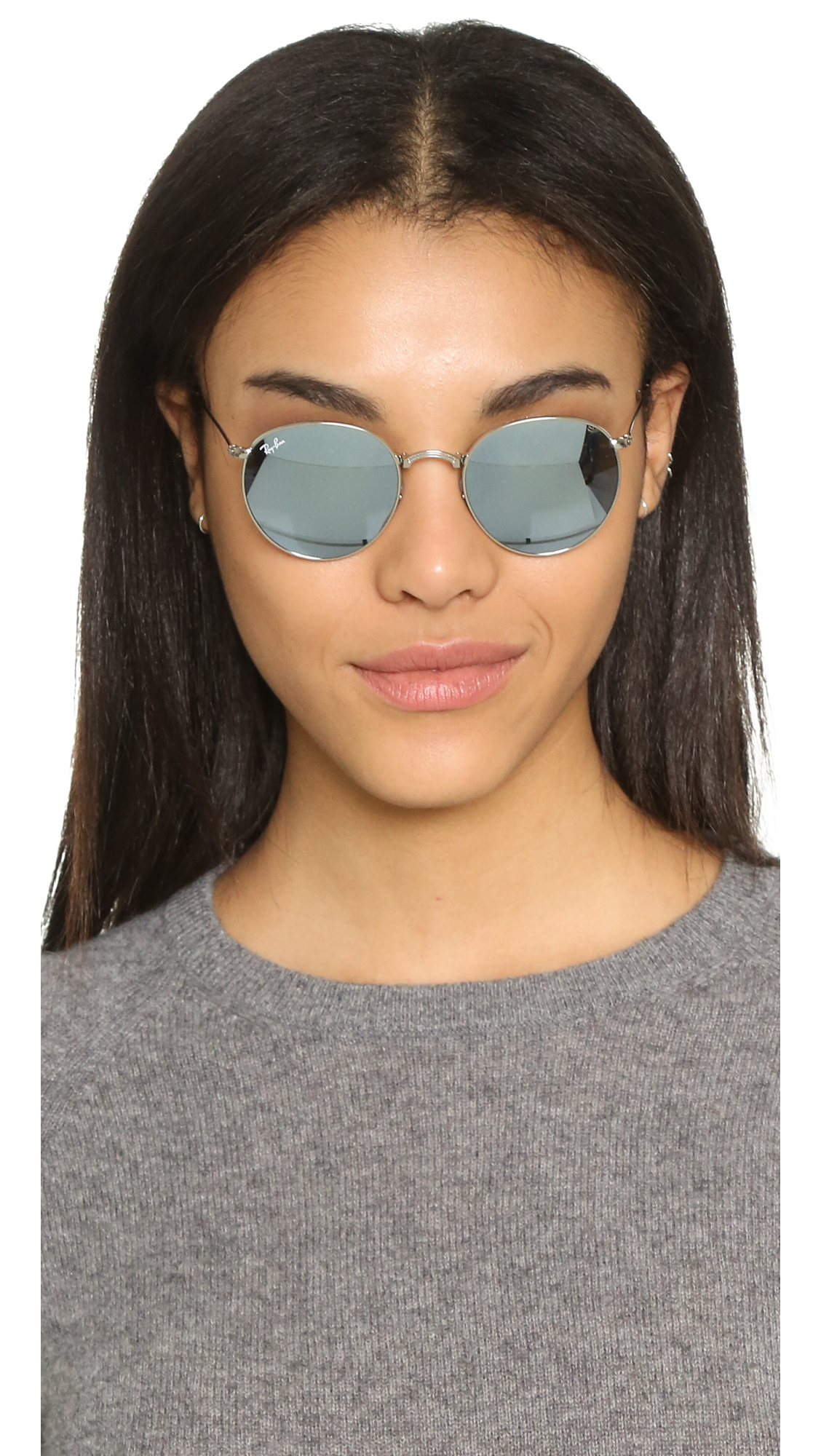Ray Ban Icons Mirrored Round Sunglasses In Green Lyst