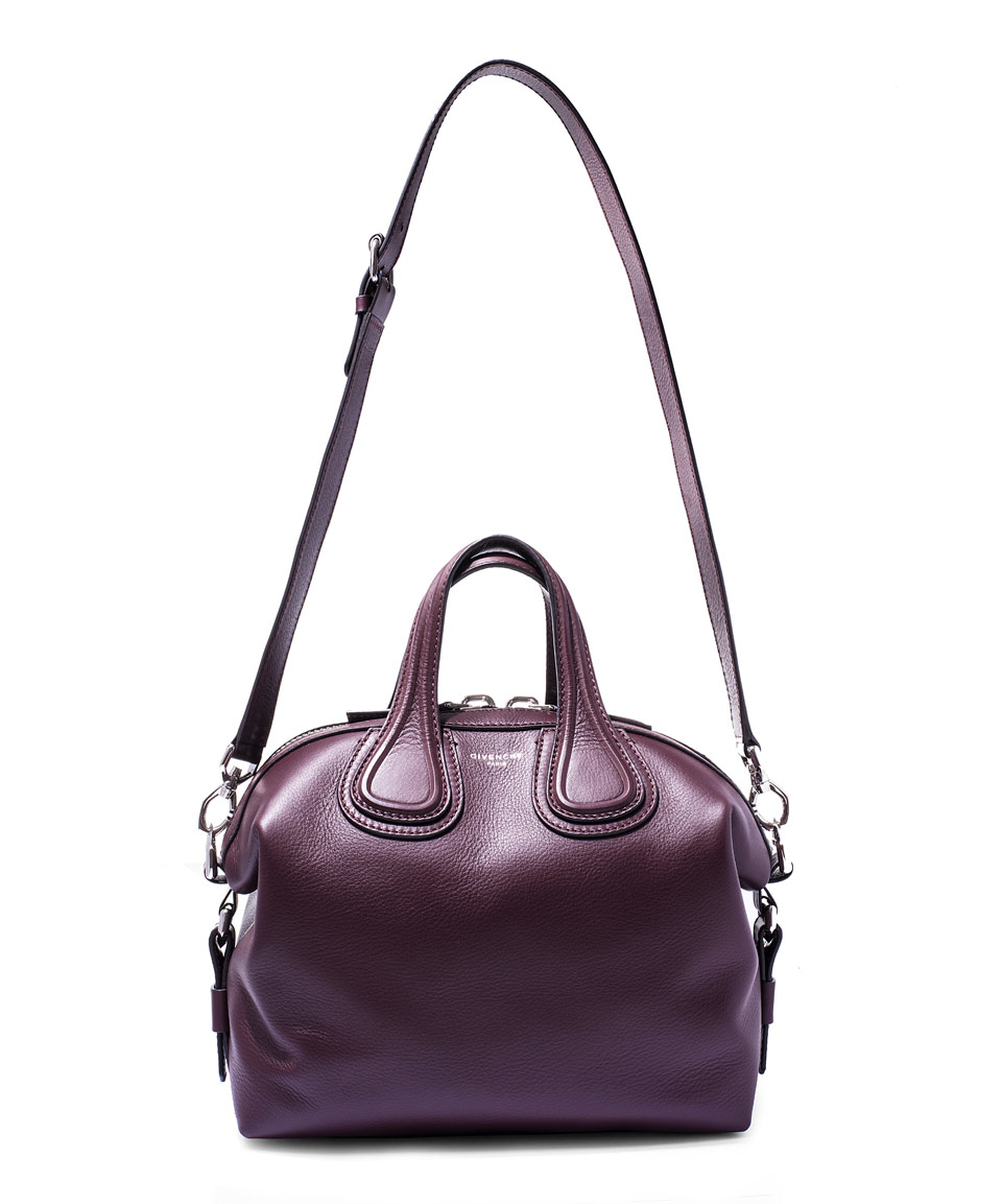 Lyst - Givenchy Small Oxblood Nightingale Waxed Leather Bag in Purple 915a1309a923a