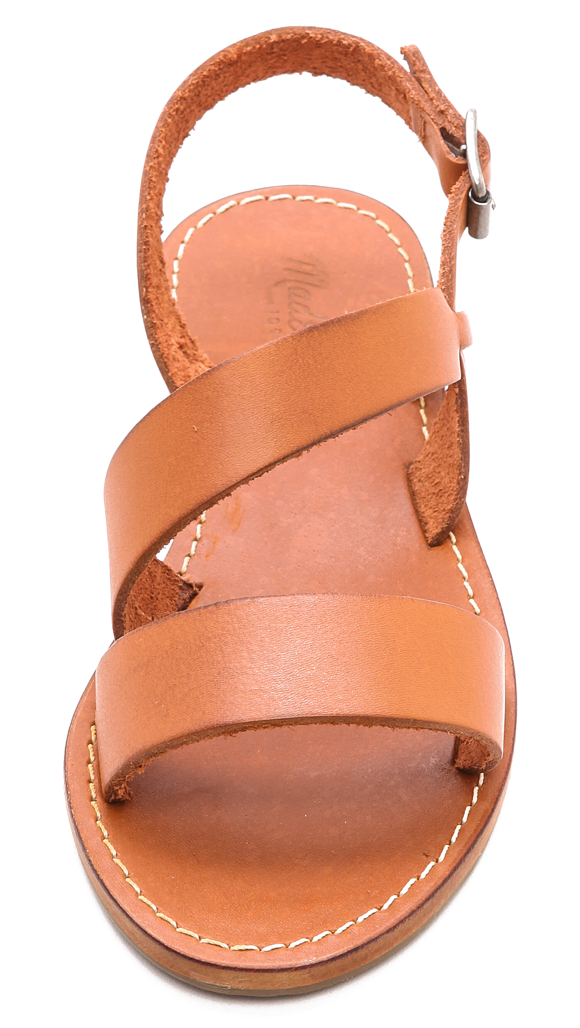 5e10976b63d855 Lyst - Madewell Slingback Sightseer Sandals Pecan in Orange