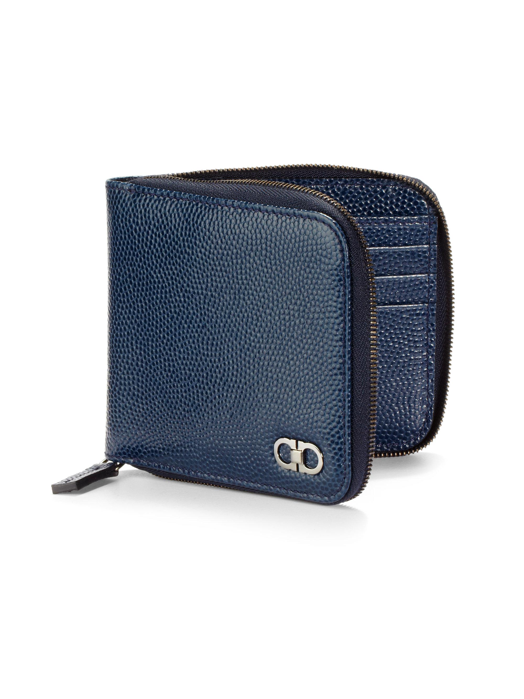 d820b0a37e46e Ferragamo Blue Ten Forty One Leather Zip Wallet For Men Lyst. Bi Fold  Wallet Men S Two Leather ユナイテッドオム Horse X カラージップ Tape Short Zip