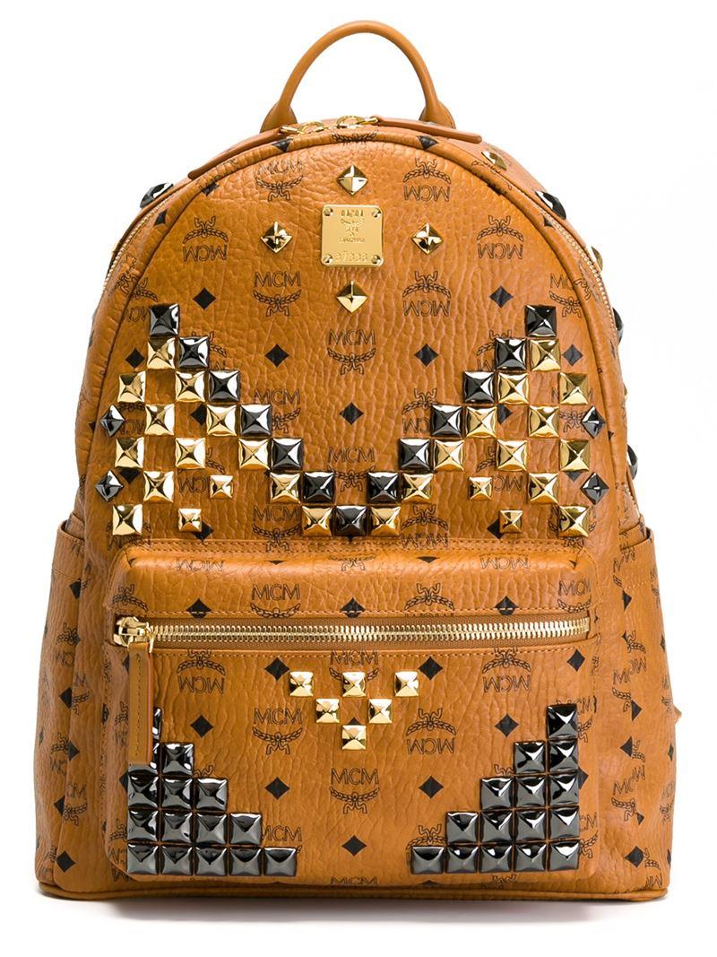 lyst mcm medium 39 stark 39 backpack in brown. Black Bedroom Furniture Sets. Home Design Ideas