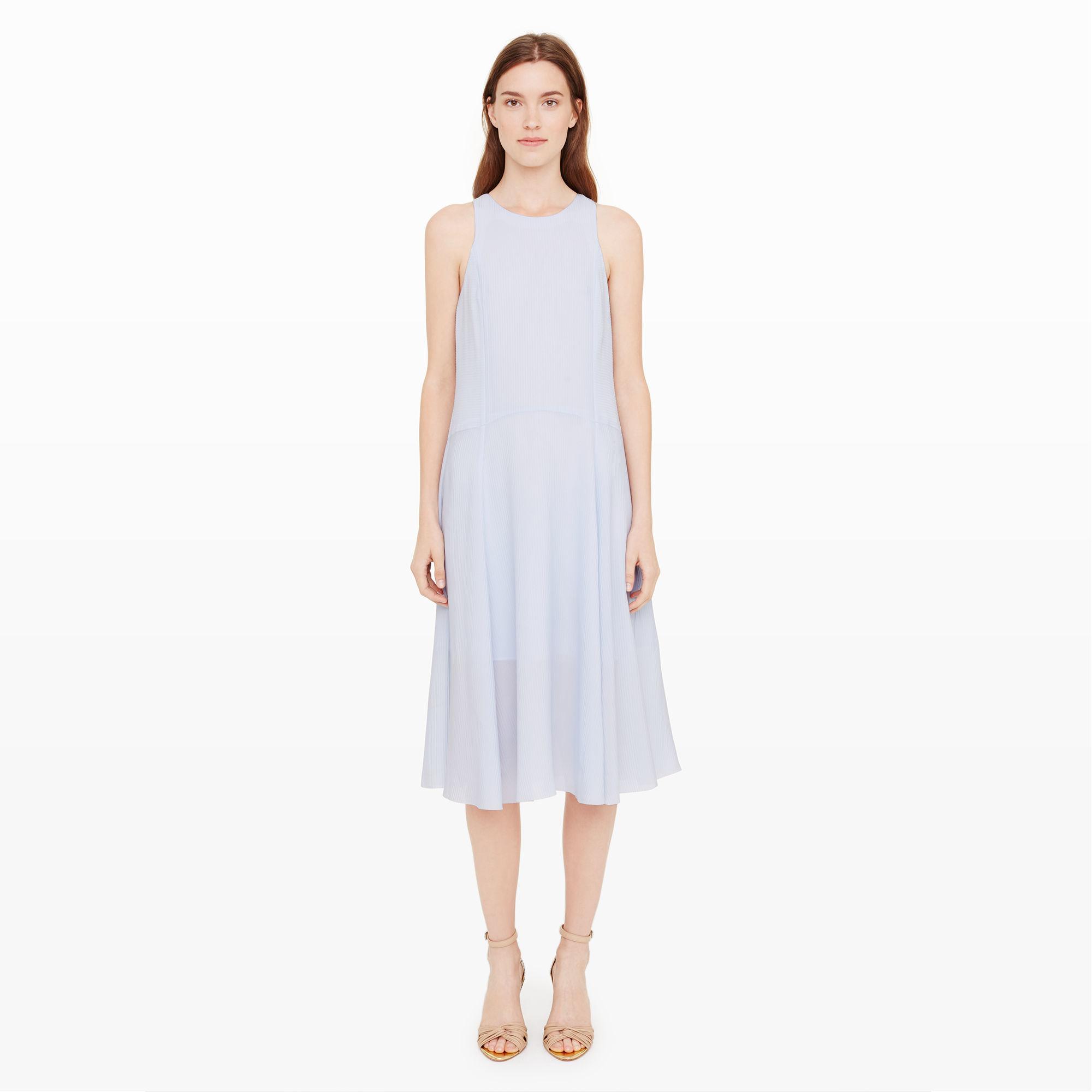 lyst  club monaco cariole silk dress in blue