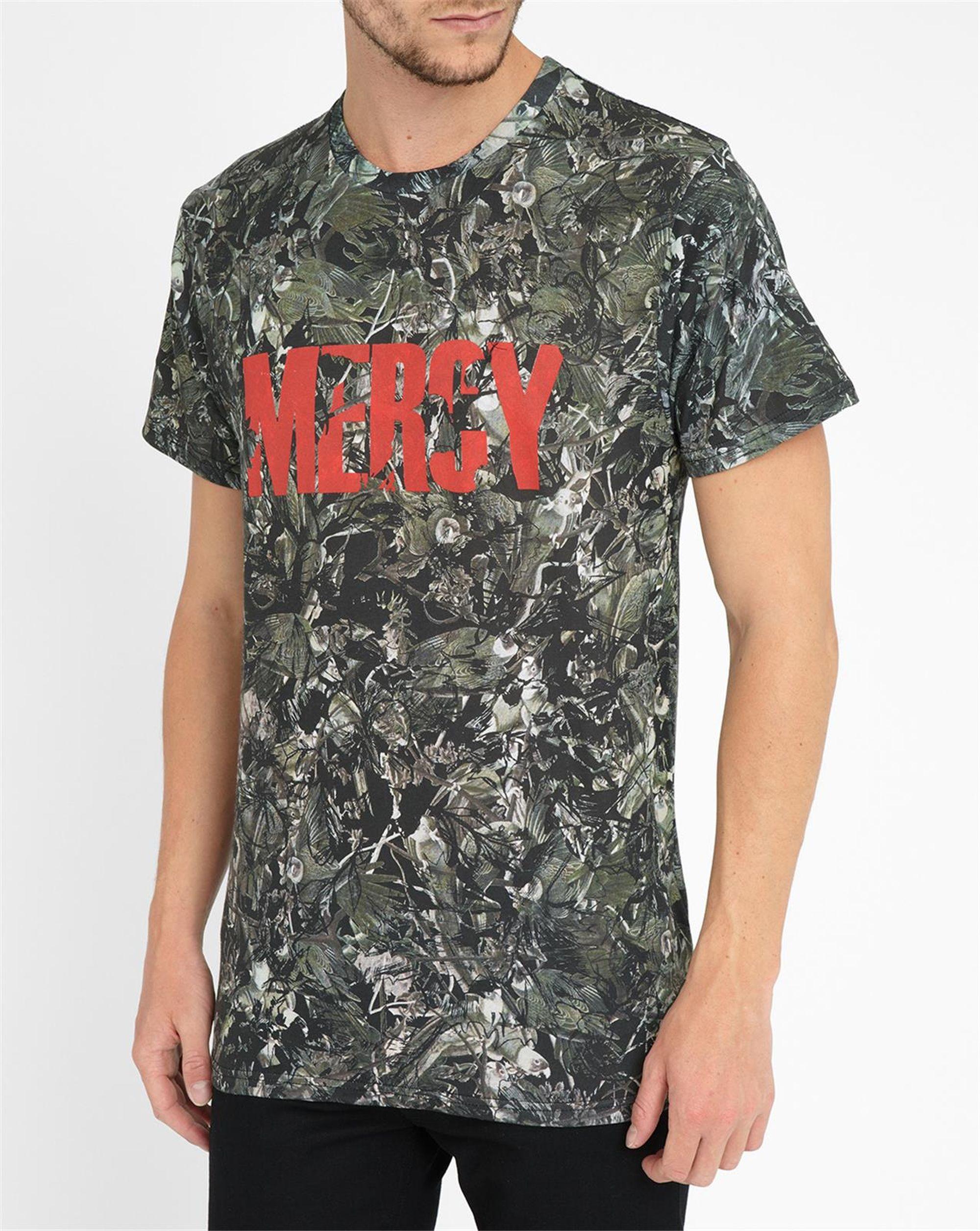 eleven paris camouflage mercy t shirt in natural for men lyst. Black Bedroom Furniture Sets. Home Design Ideas