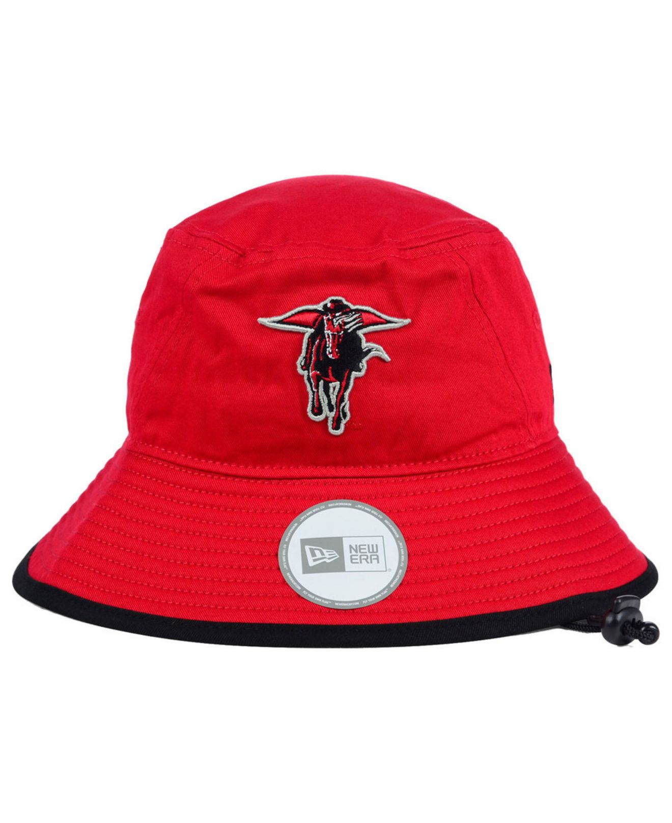 newest 3b19b 66162 ... australia lyst ktz texas tech red raiders tip bucket hat in red for men  a8907 3e605