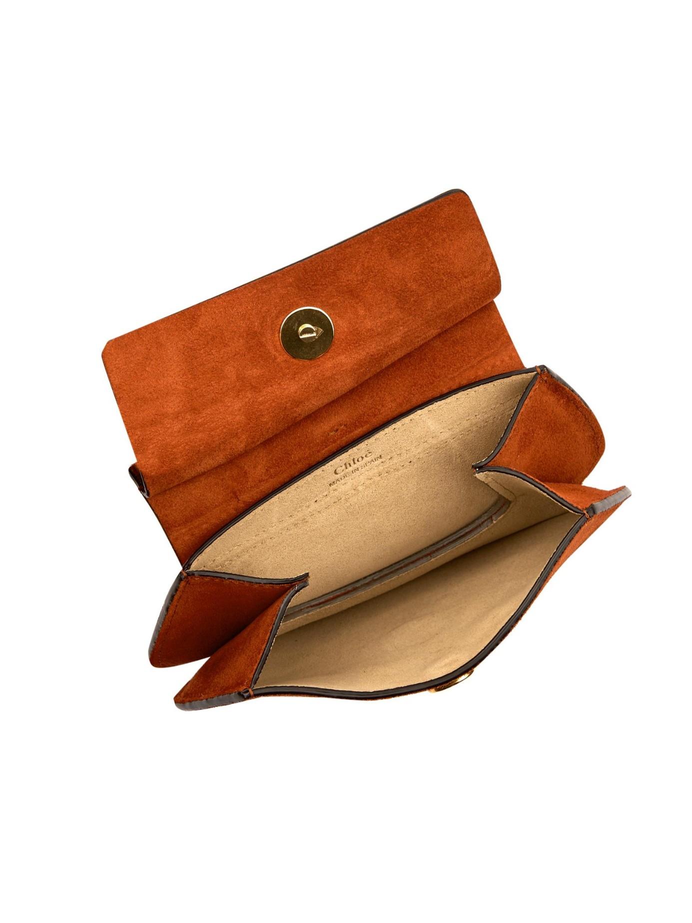 Chlo¨¦ Mini Faye Suede Cross-Body Bag in Brown | Lyst