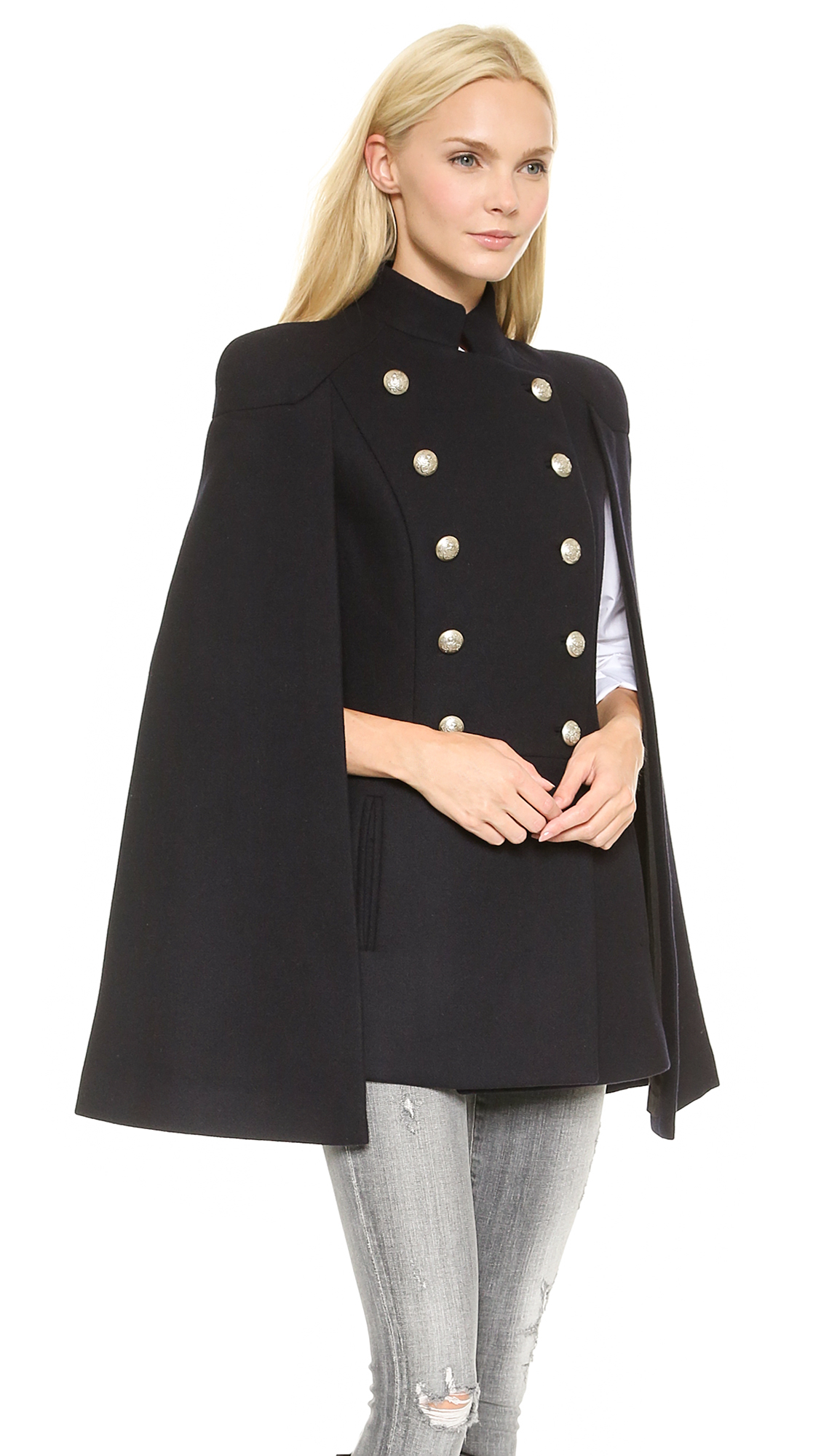 Navy winter coat women