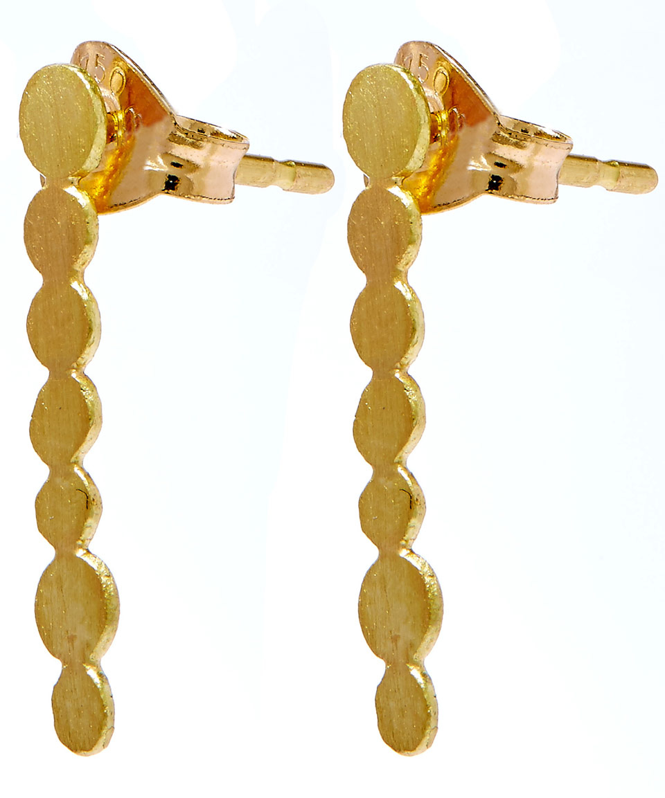 contemporary gaamaa by original thin line bar earrings stud gold product