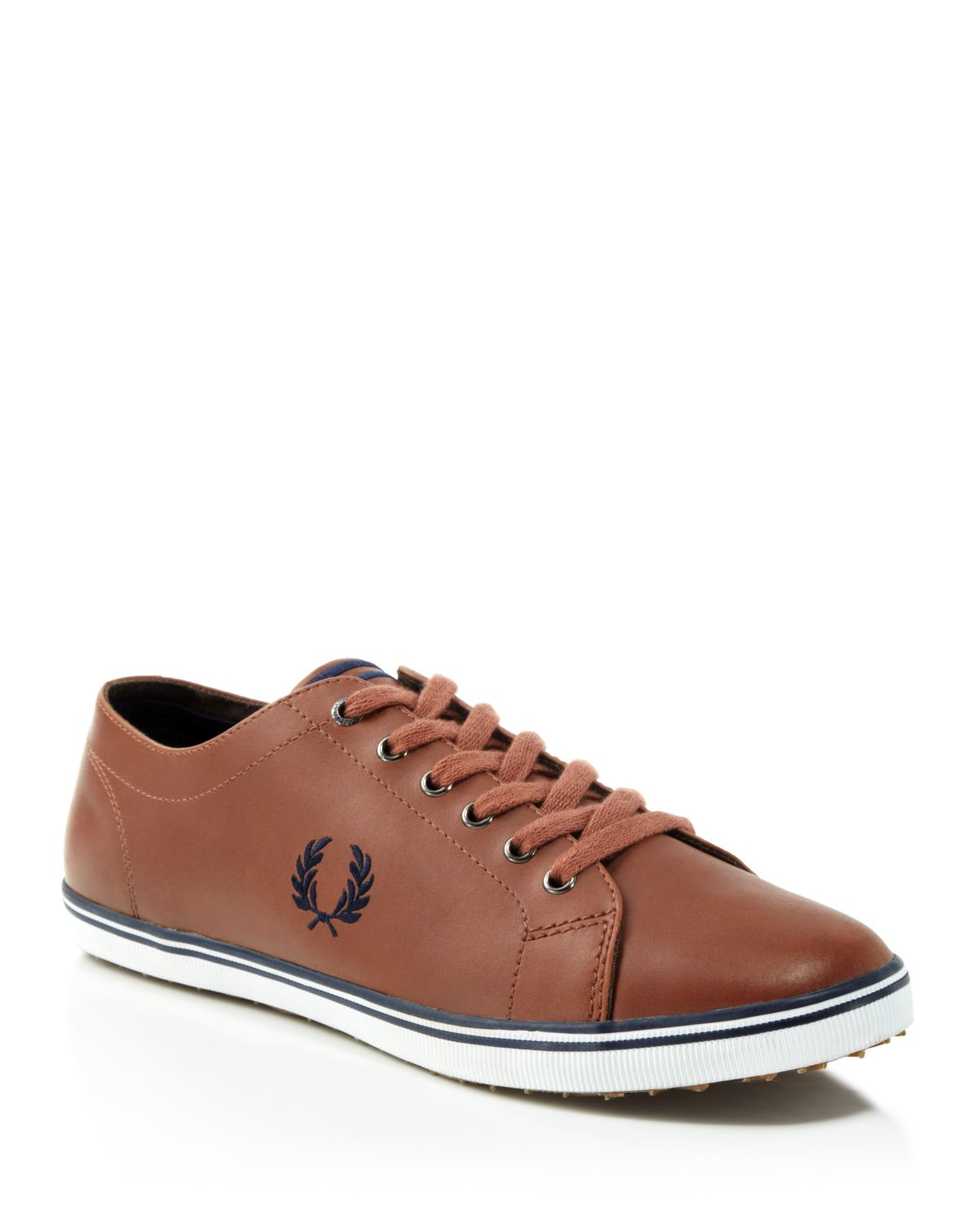 Mens Brown Leather Tennis Shoes