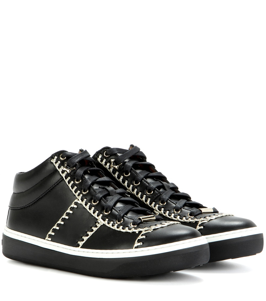 Jimmy choo Leather Trainers Excellent Cheap Online Latest Cheap Real Clearance Huge Surprise Cheap Low Price Fee Shipping NYIa1