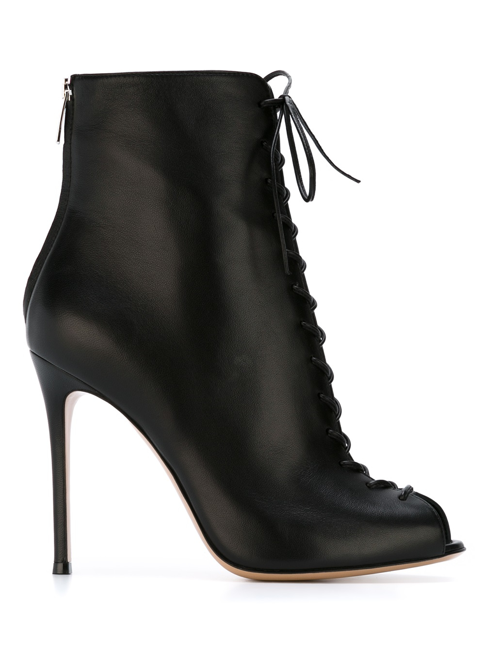 gianvito rossi suede laced up ankle boots in black lyst. Black Bedroom Furniture Sets. Home Design Ideas
