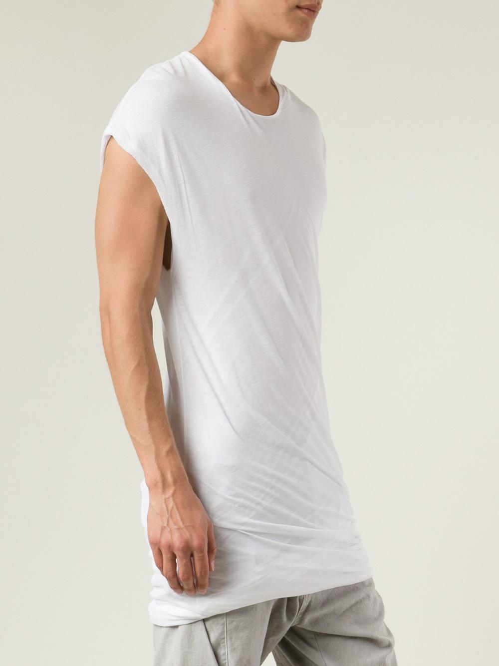 Lyst Julius Cap Sleeve Tshirt In White For Men