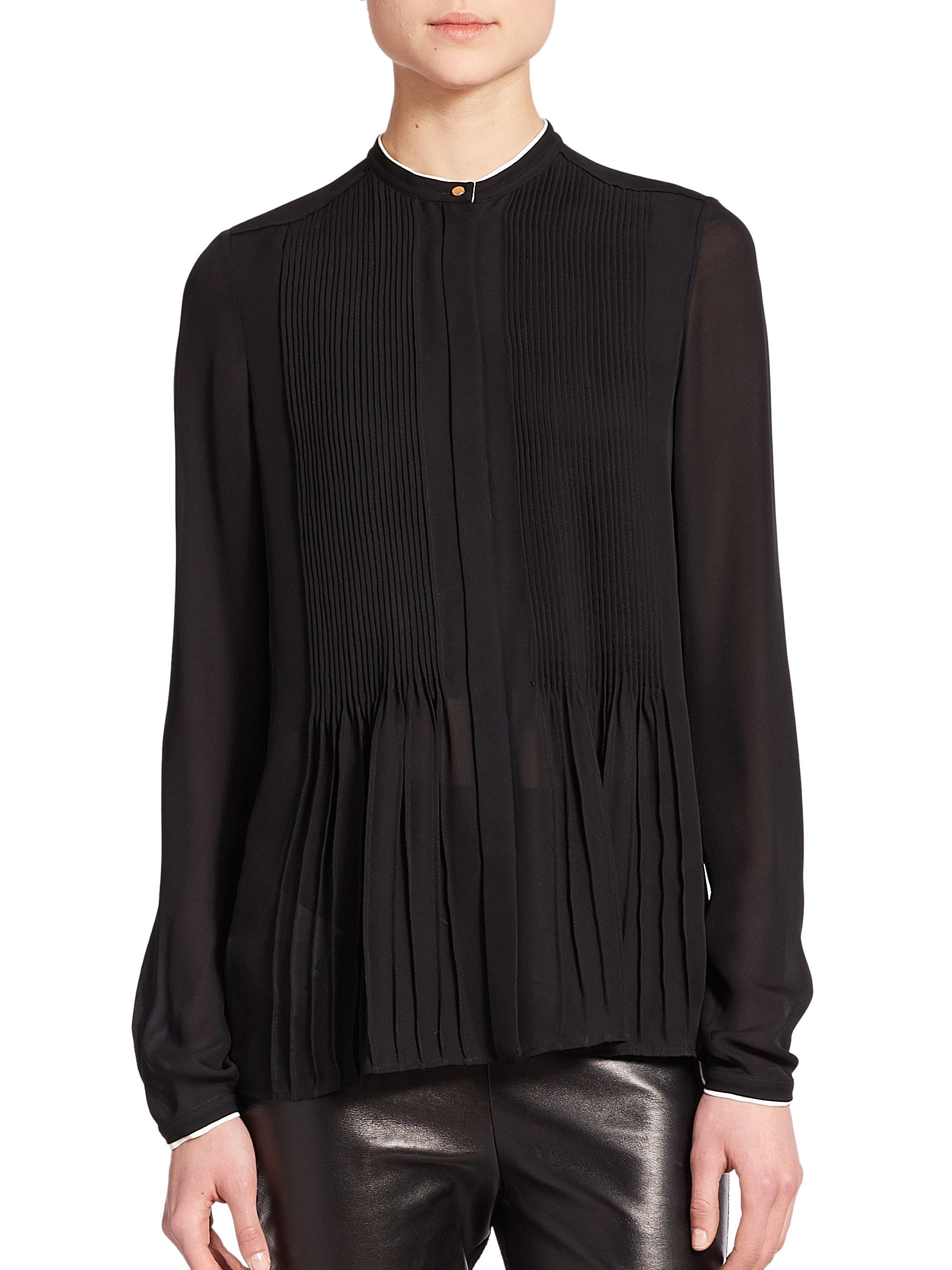 calvin klein silk blouse
