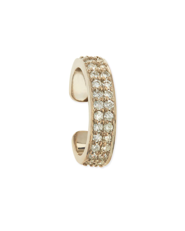 10c3afb16 Anita Ko 18k White Gold Diamond Double-row Ear Cuff in Metallic - Lyst