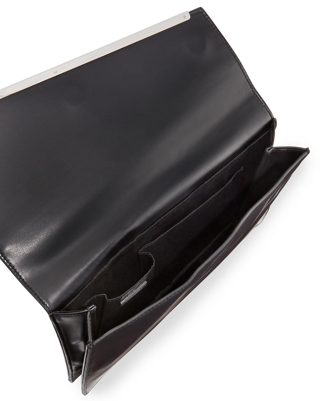 fbb8b69beb Lyst - BCBGMAXAZRIA Kensington Asymmetric Envelope Clutch Bag in Black