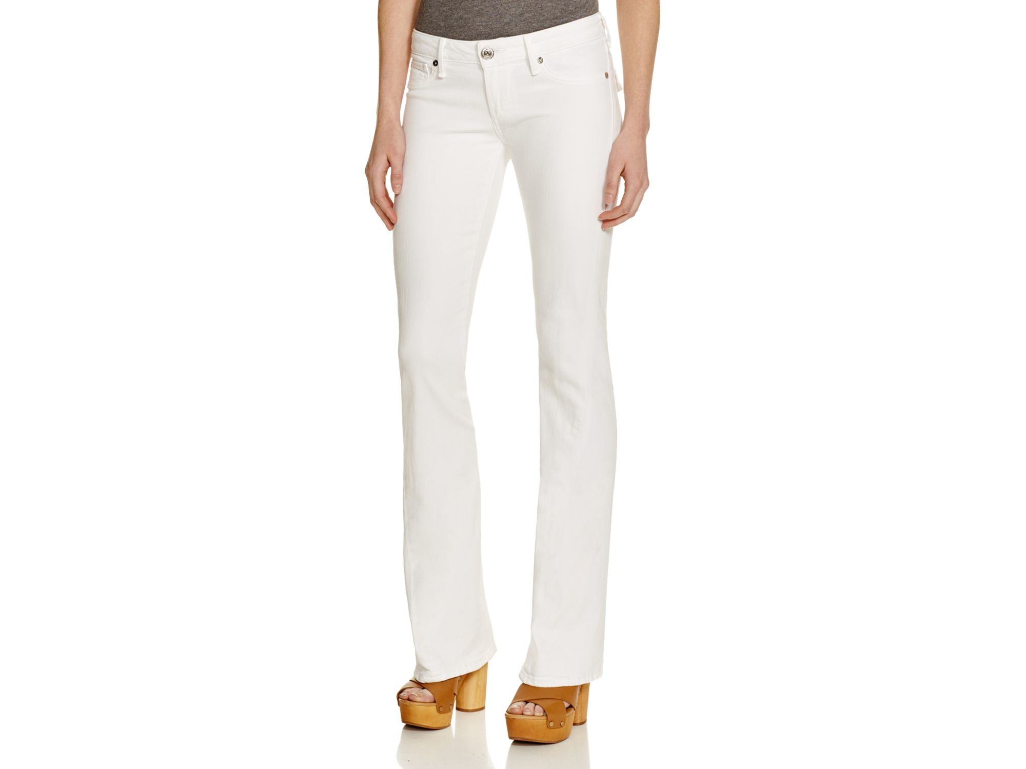 True religion Joey Low Rise Flare Jeans In Optic White in White | Lyst