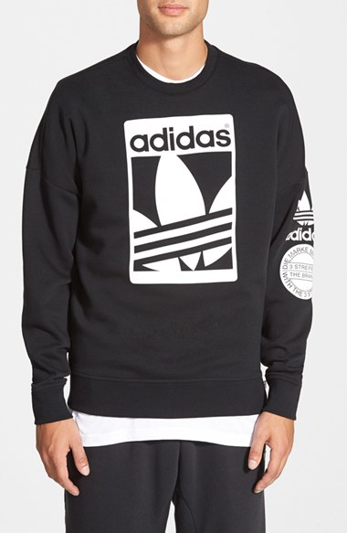 Lyst Adidas Originals Street Graphic Crewneck Sweatshirt In