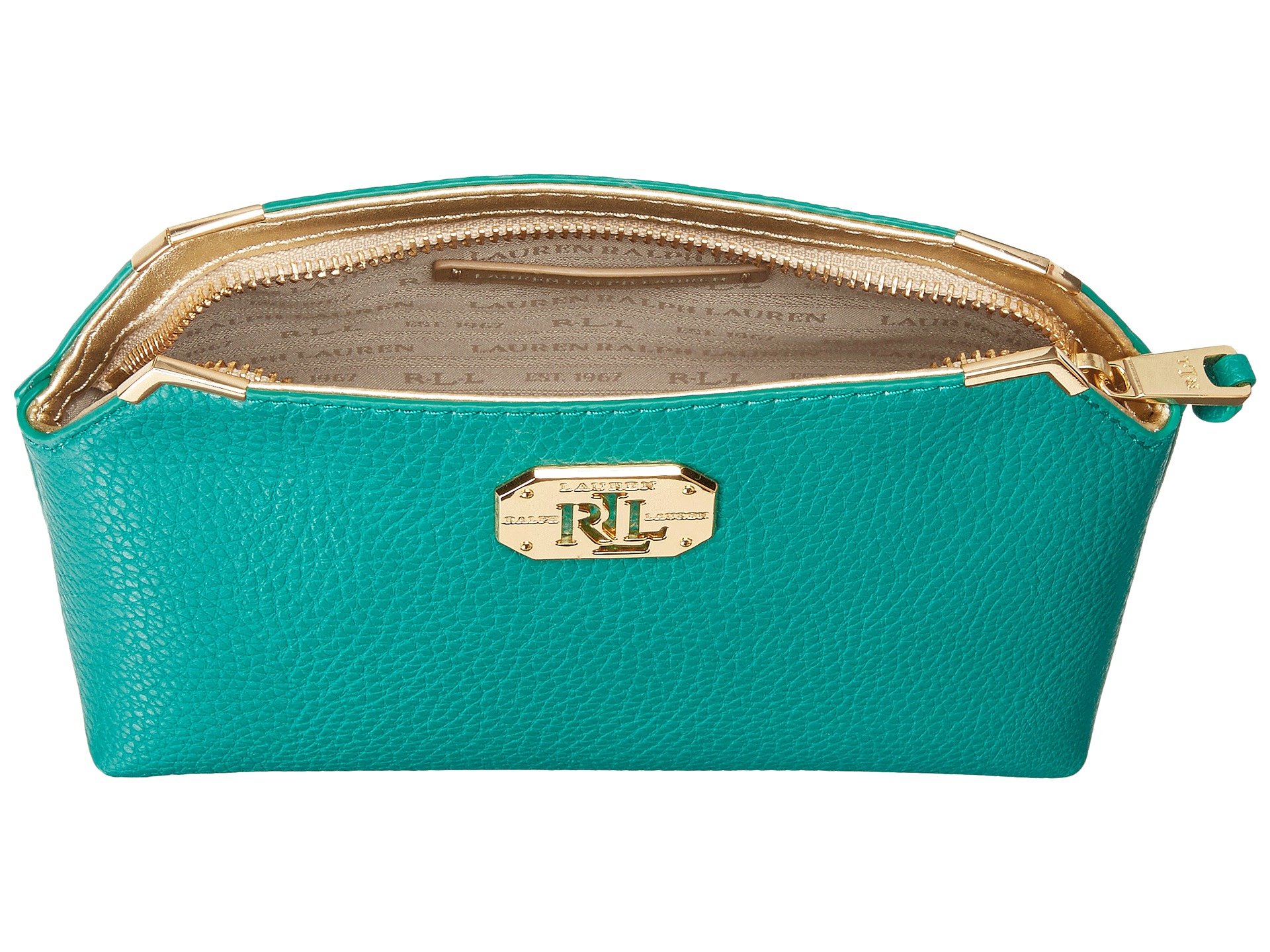 fb50ee77e8ee Lyst - Lauren by Ralph Lauren Acadia New Cosmetic Case in Green