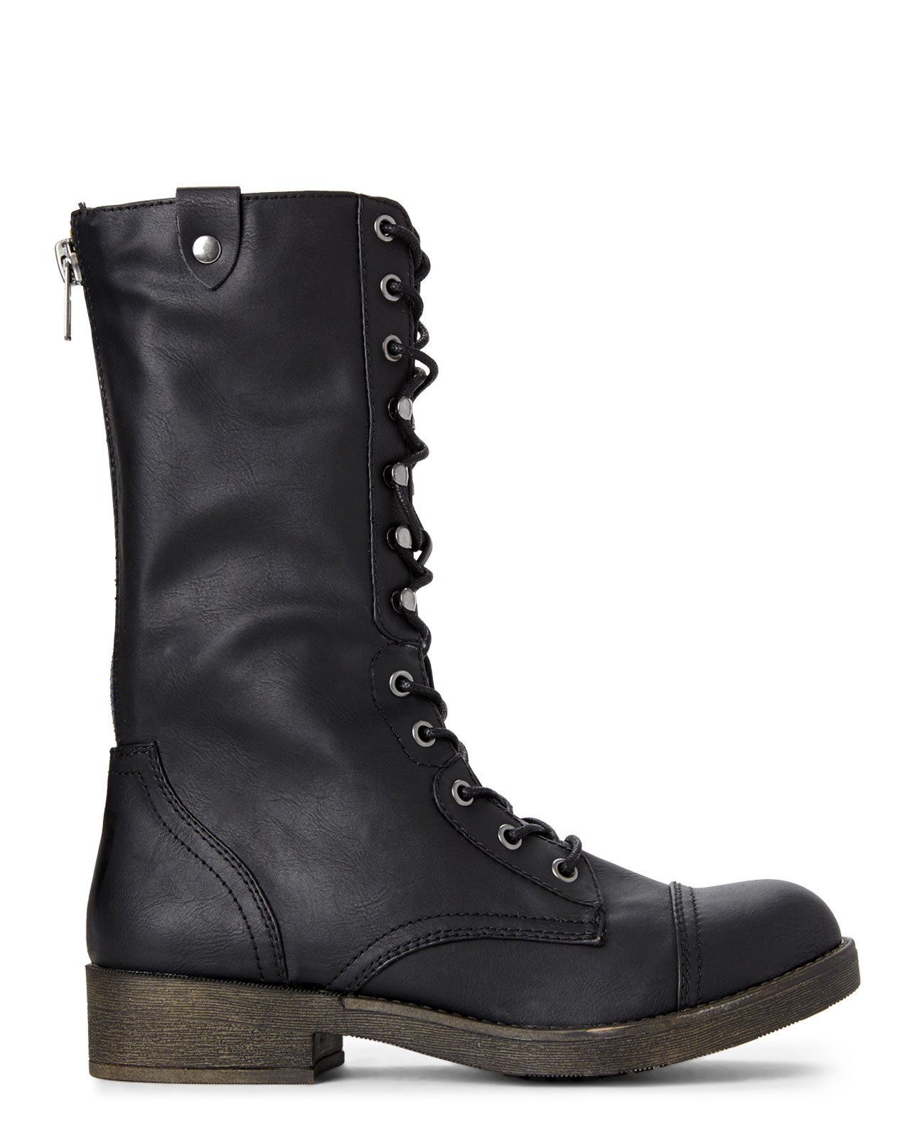 Madden girl Black Motorrr Fold-Down Combat Boots in Black | Lyst