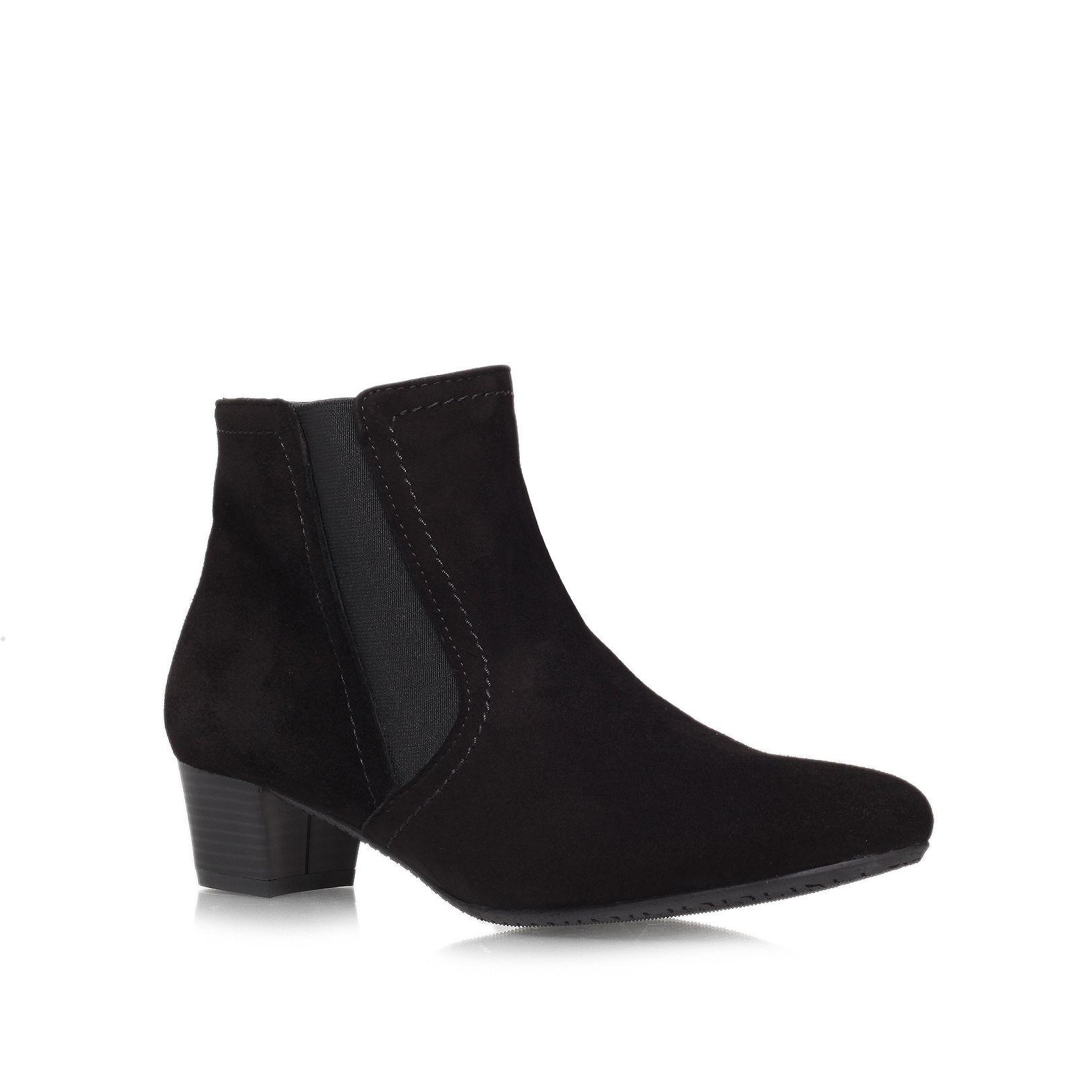 carvela kurt geiger remi low heeled ankle boots in black