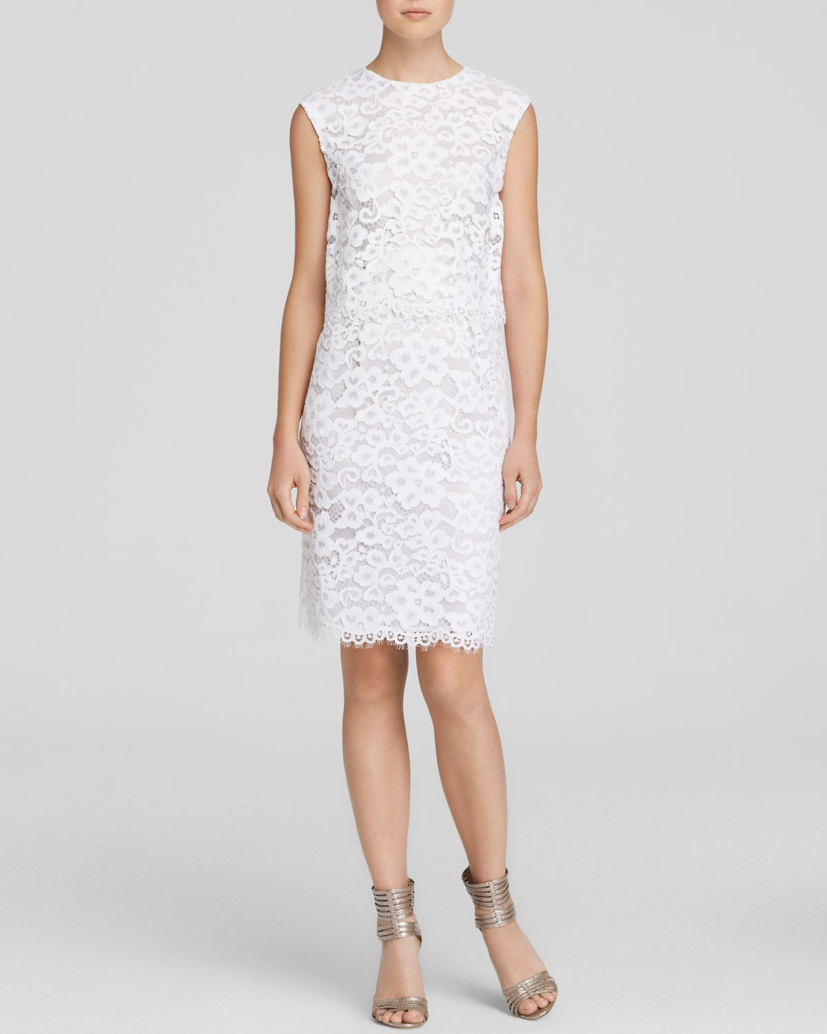 Shoshanna Lola Lace Dress - Bloomingdale'S Exclusive in White | Lyst