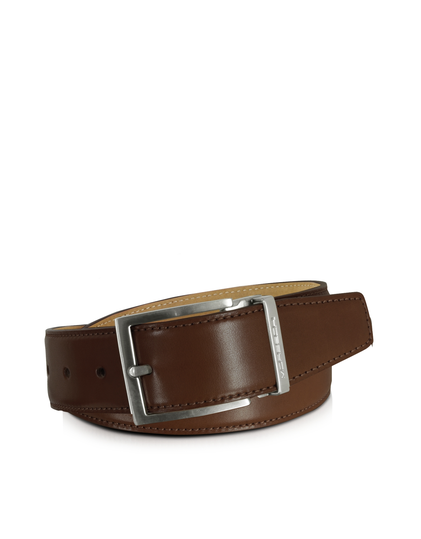 moreschi eton brown leather belt in brown for lyst