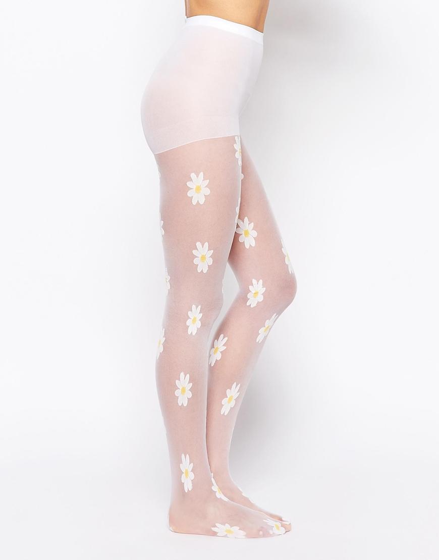 9f60427bdeec1 Leg Avenue Daisy Tights in White - Lyst