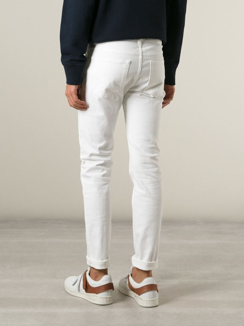 Acne Studios Ace Jeans In White For Men Lyst
