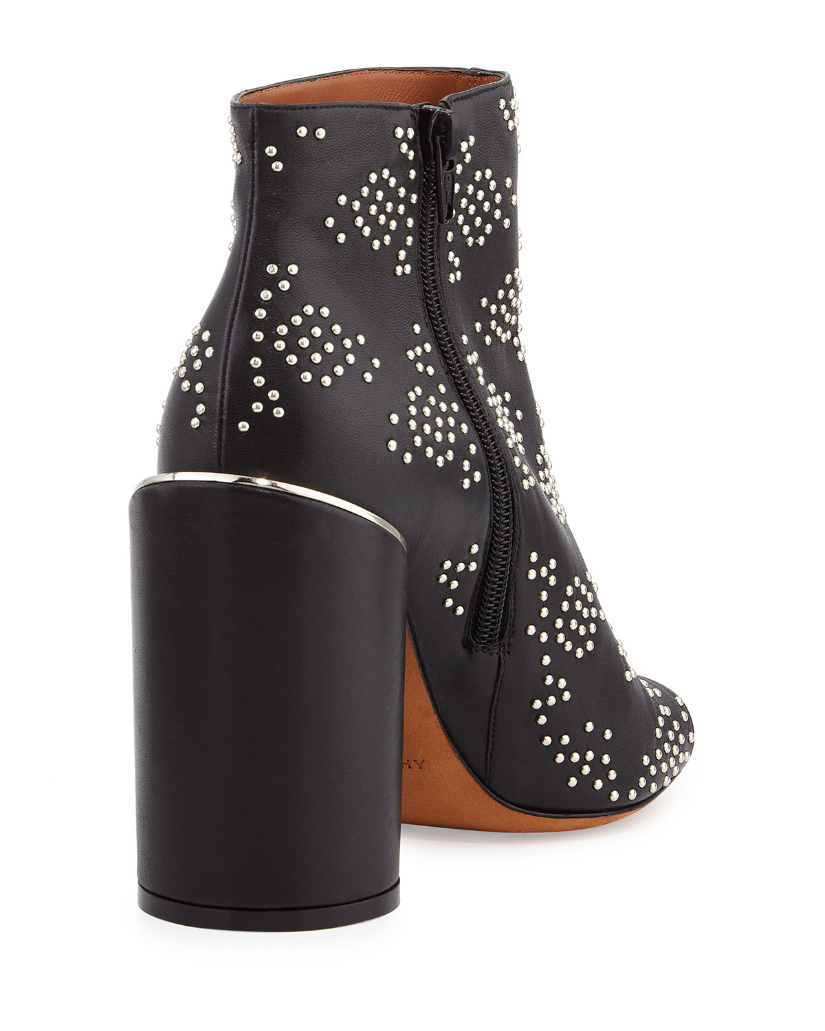 Lyst Givenchy Edgy Studded Peep Toe Bootie In Black