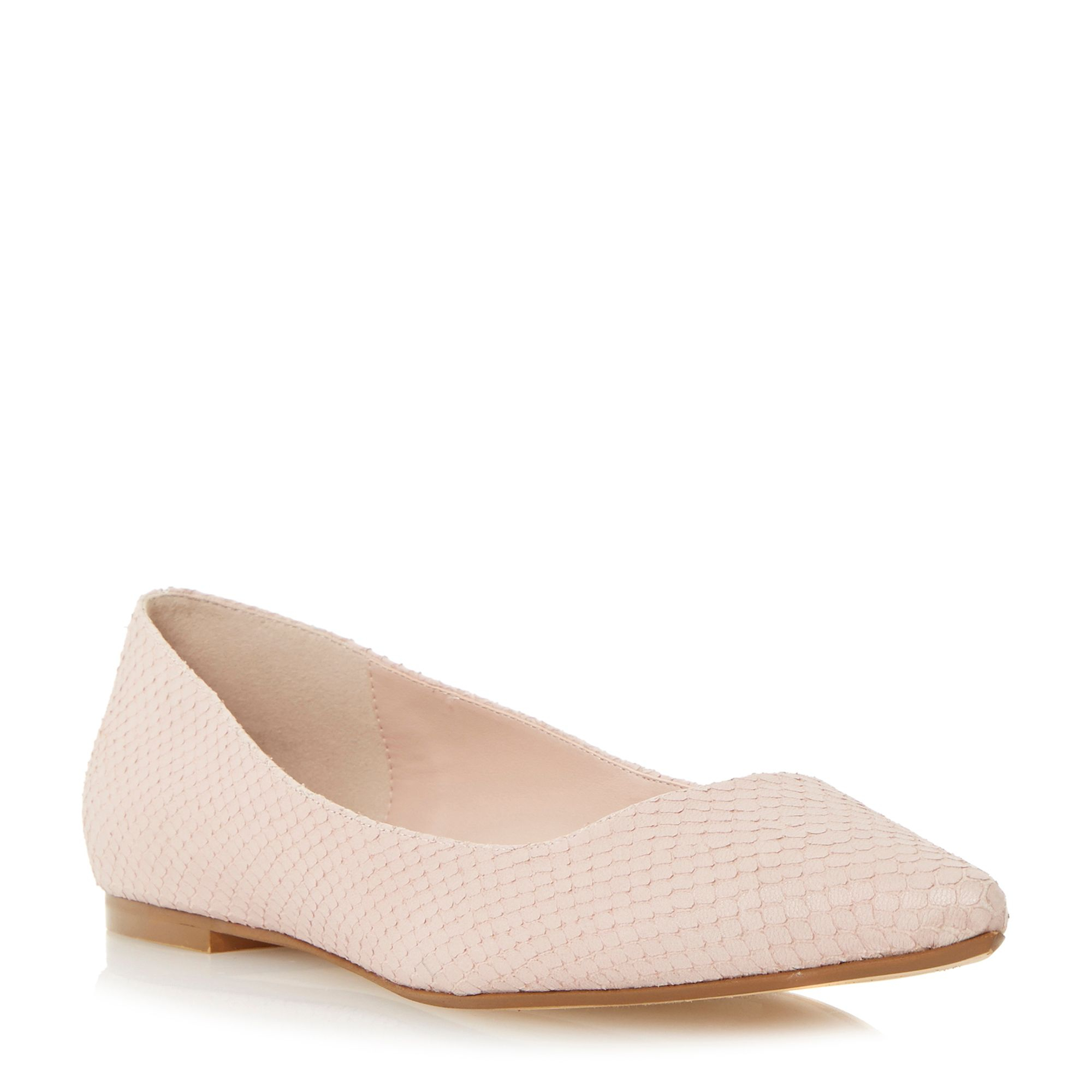 Dune Amarie Flat Pointed Toe Court Shoes In Pink   Lyst