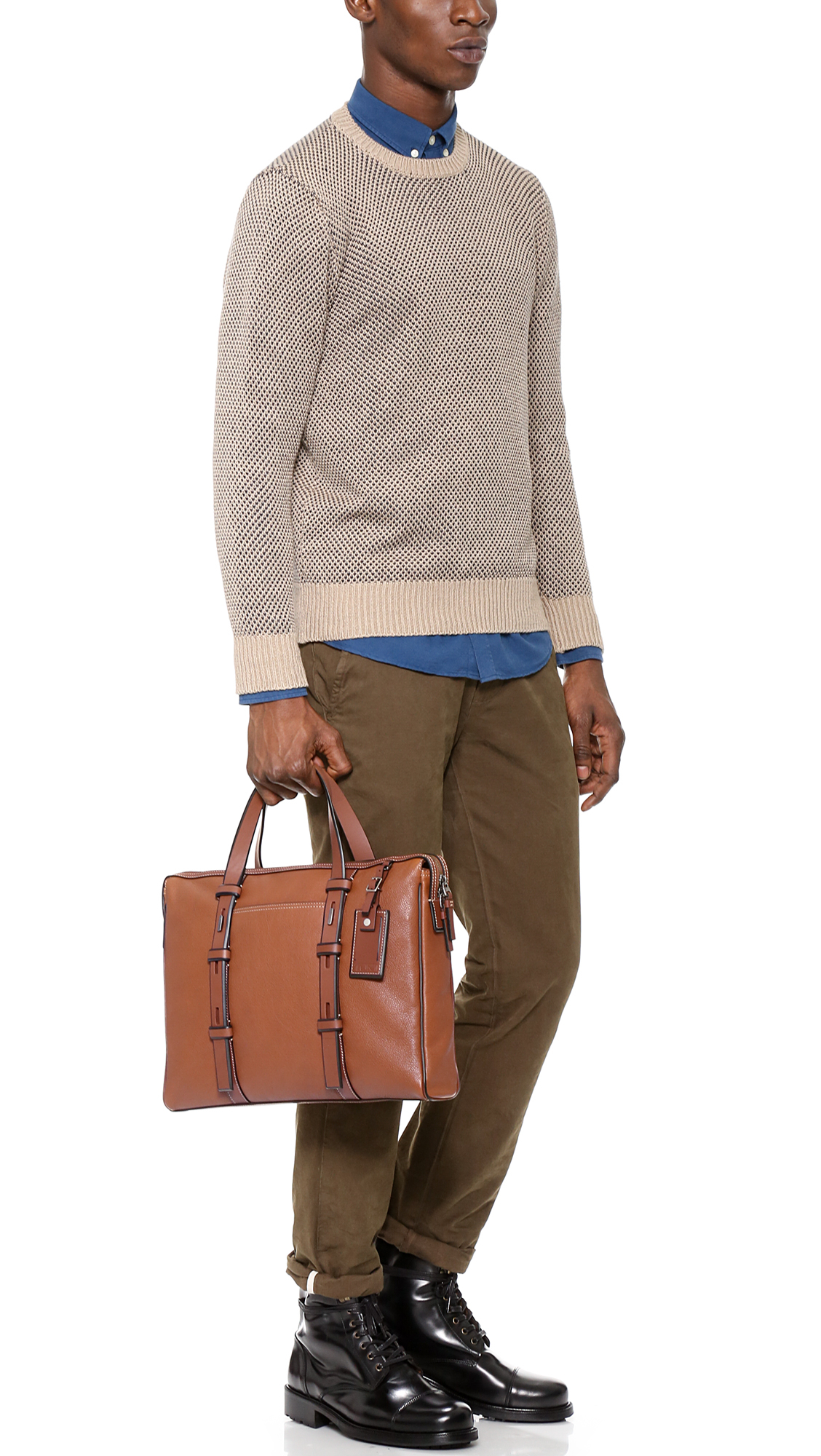 Tumi Harrison Leather Briefcase In Brown For Men Lyst