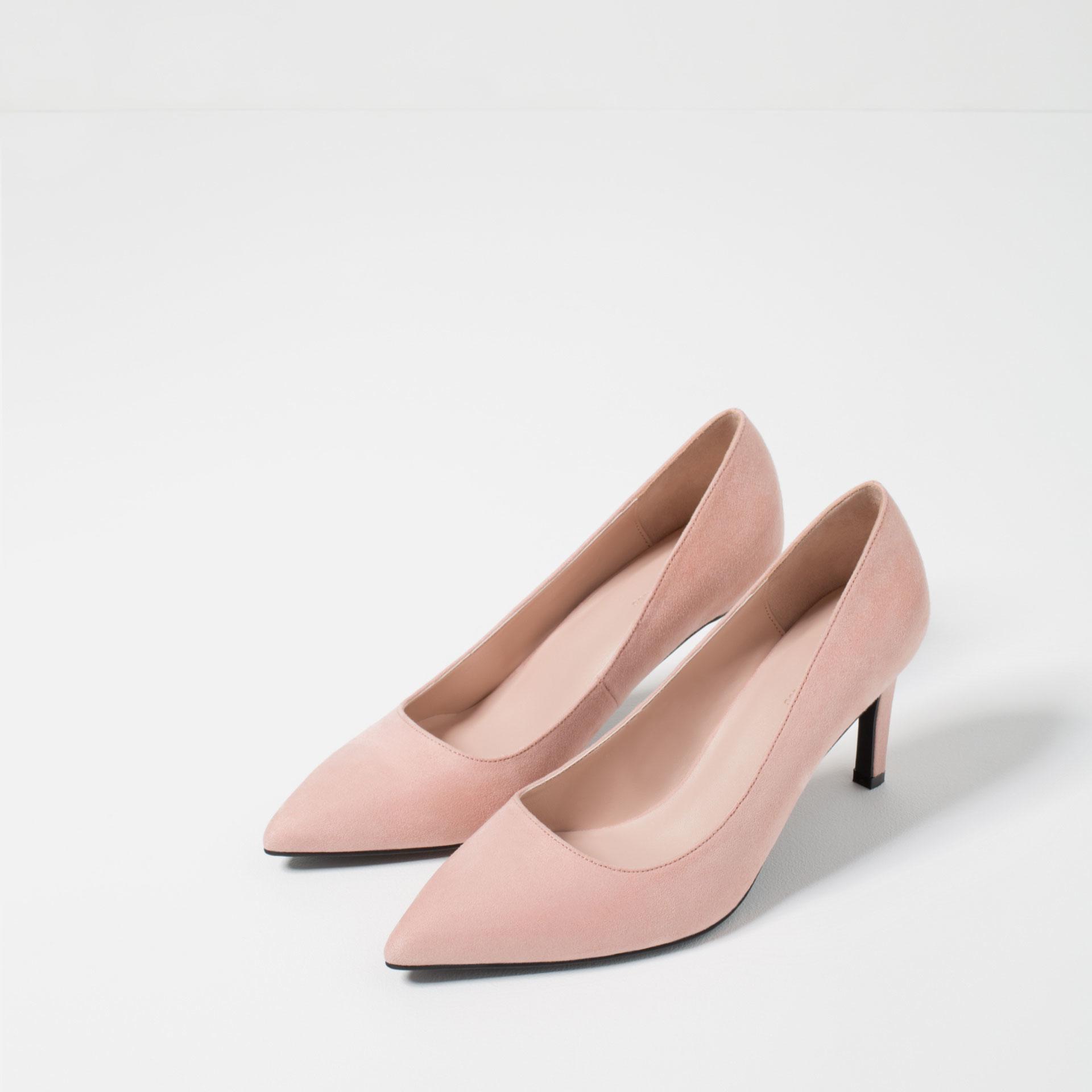 zara high heel shoes in pink lyst