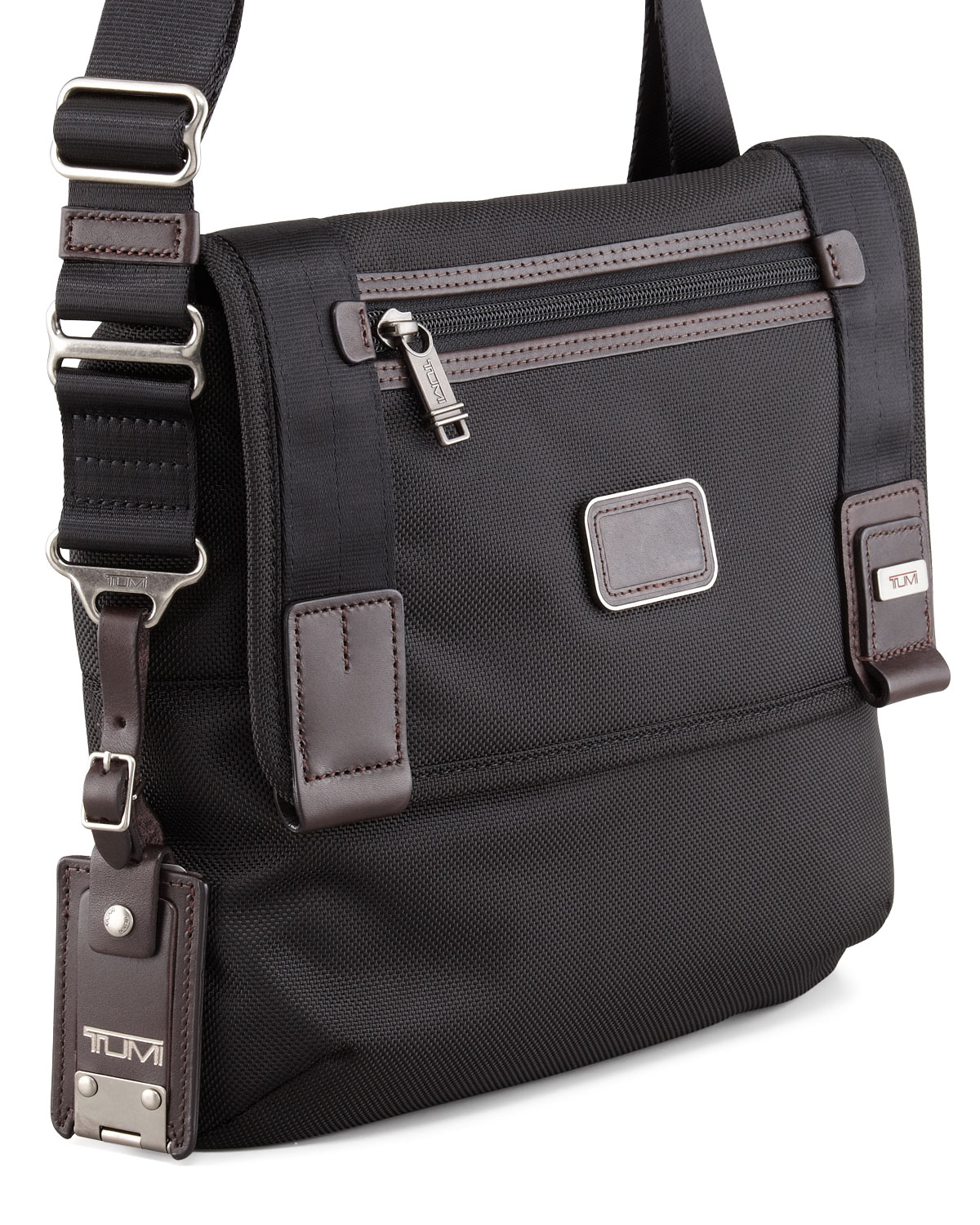 Tumi Hickory Mini Messenger Bag in Black | Lyst