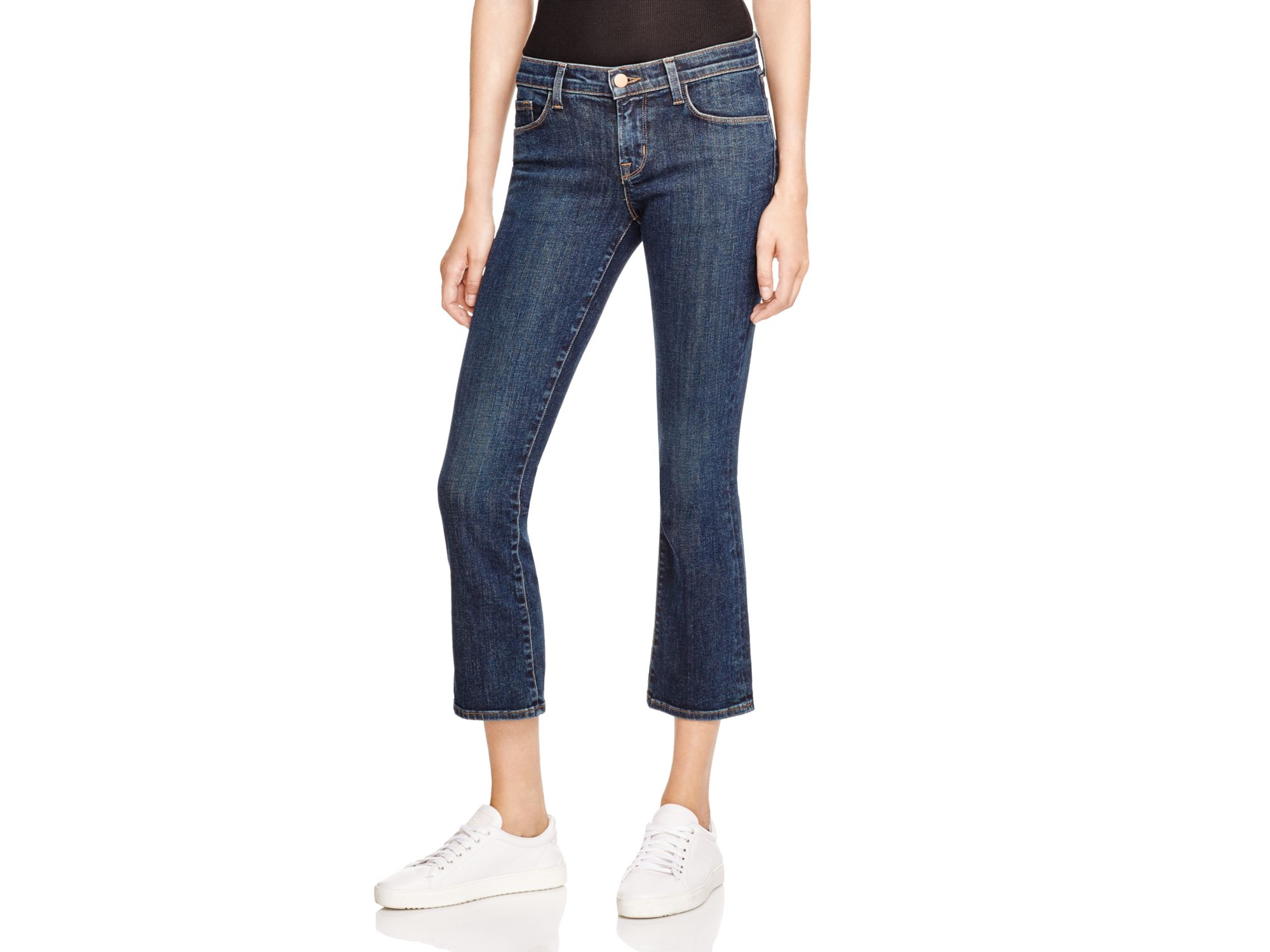 c0edda120467a J Brand Selena Cropped Bootcut Jeans In Lonesome in Blue - Lyst