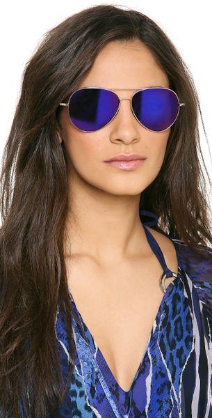 ray ban aviator blau violett
