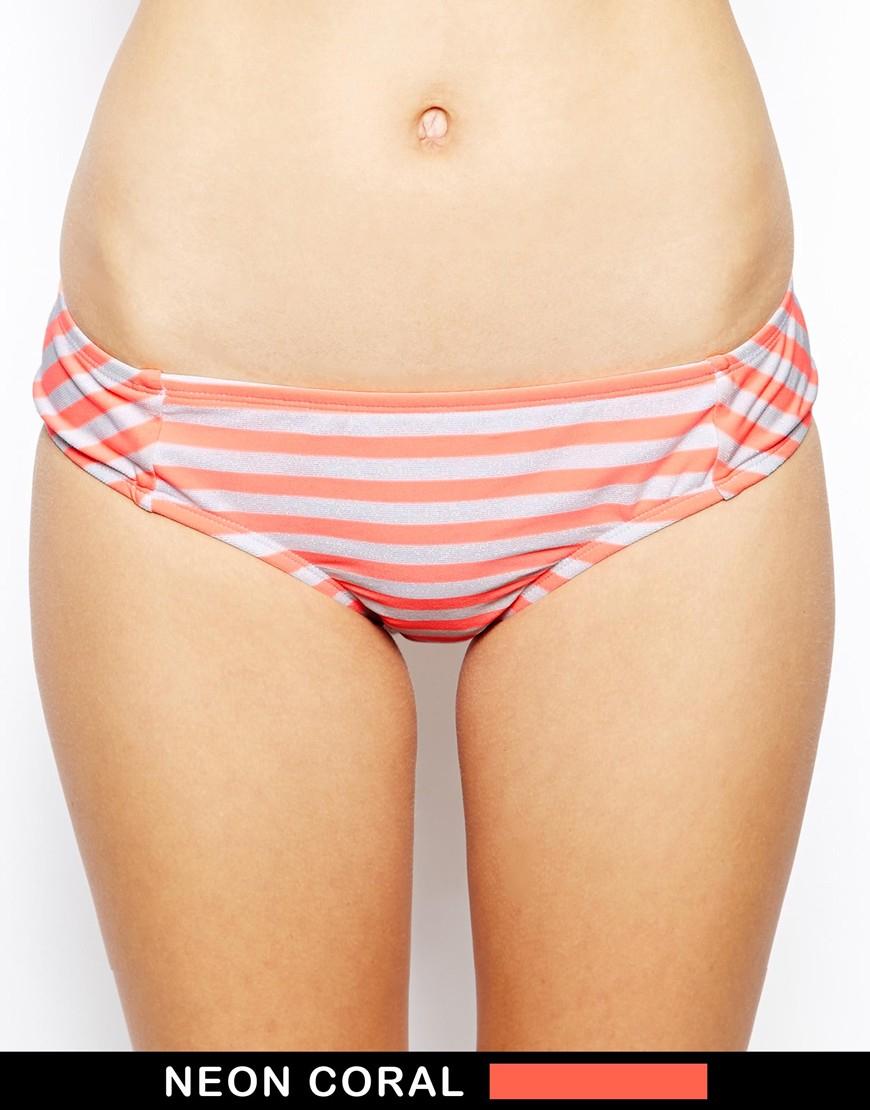 4503bb449e Lyst - Bikini Lab I Just Wanna See You Stripe Bow Cheeky Bikini ...