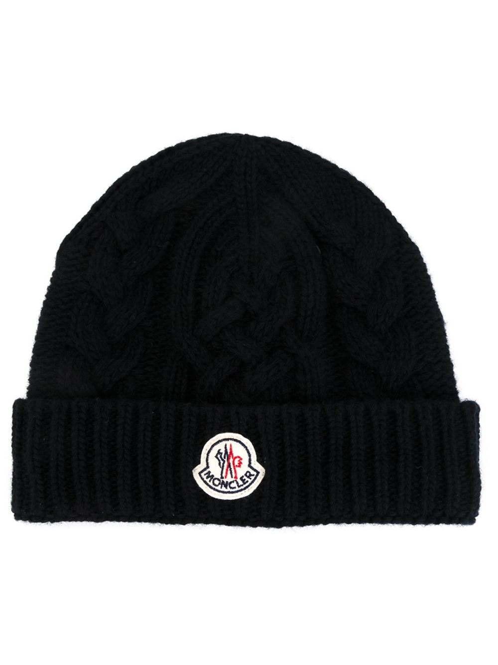 21813501b47 Moncler Cable Knit Beanie in Blue for Men - Lyst