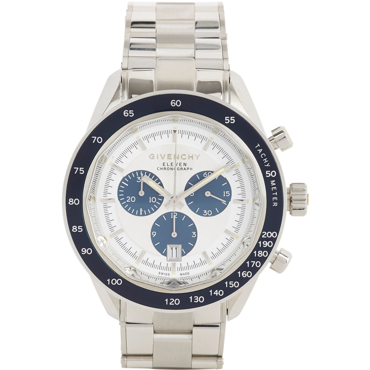 givenchy eleven chronograph watch in white lyst