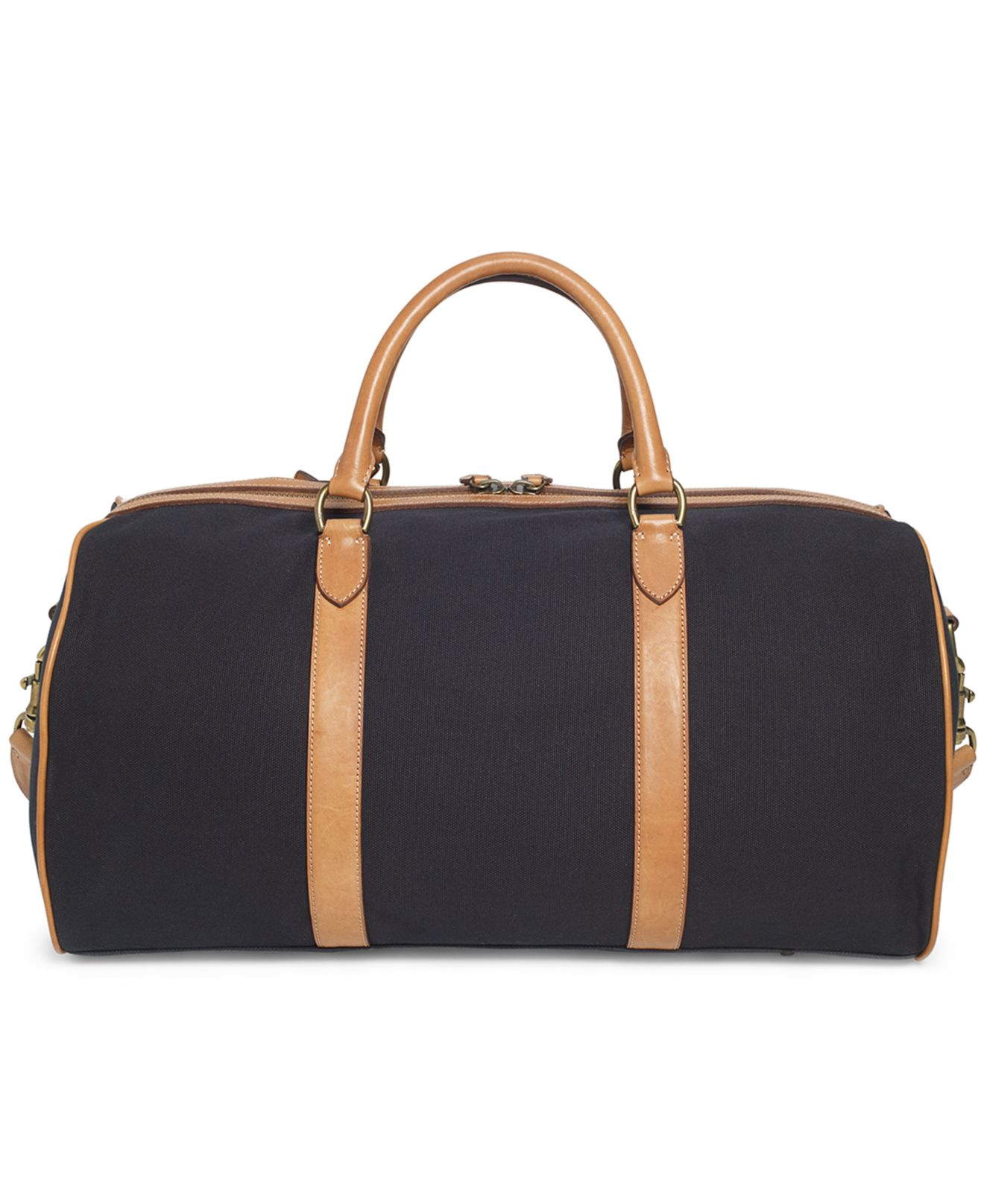 Lyst - Polo Ralph Lauren Canvas Black Watch Leather Detail Duffel ... 1877f8202e985
