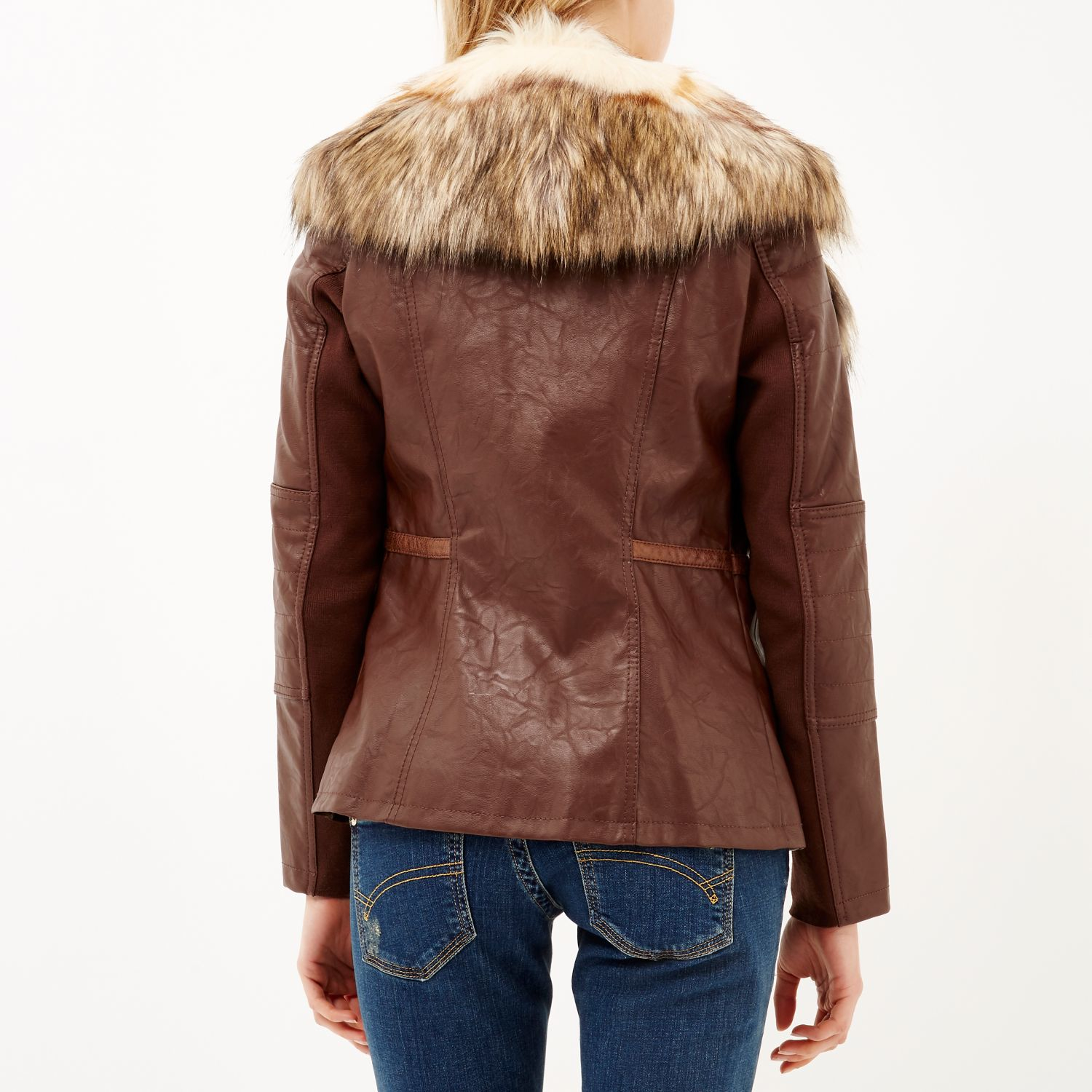 Red leather jacket river island – Modern fashion jacket photo blog