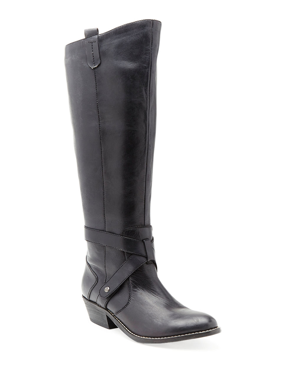 dolce vita clinton leather boots in black lyst