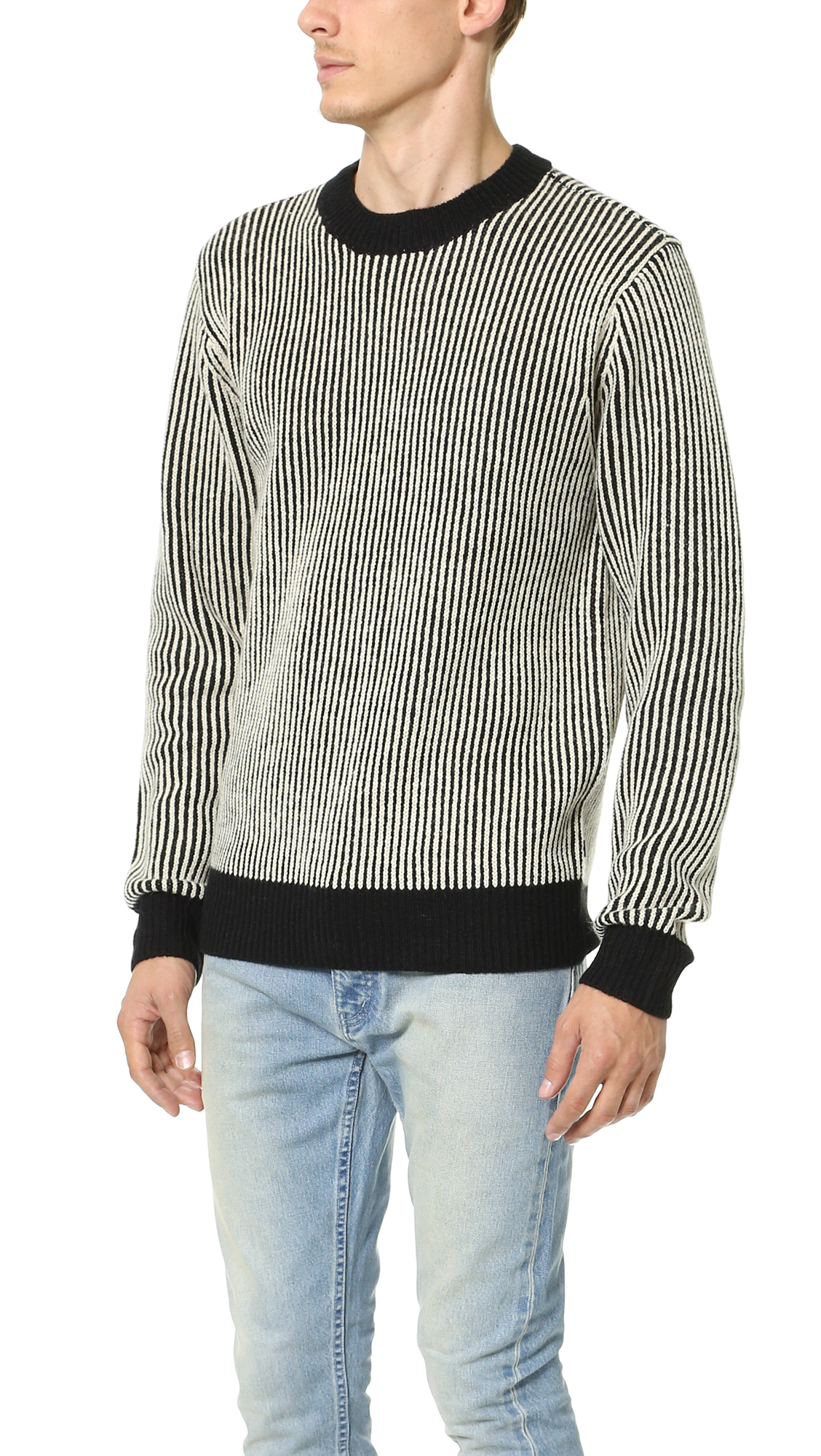 Obey Sloper Sweater in Black for Men | Lyst