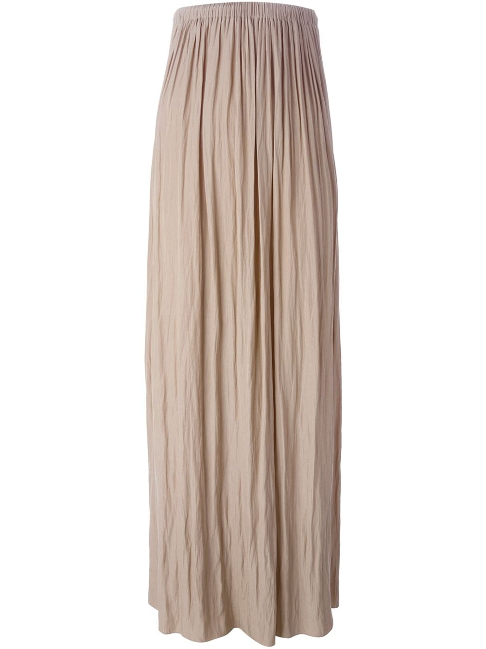 Lanvin Pleated Maxi Skirt In Beige Nude Amp Neutrals Lyst