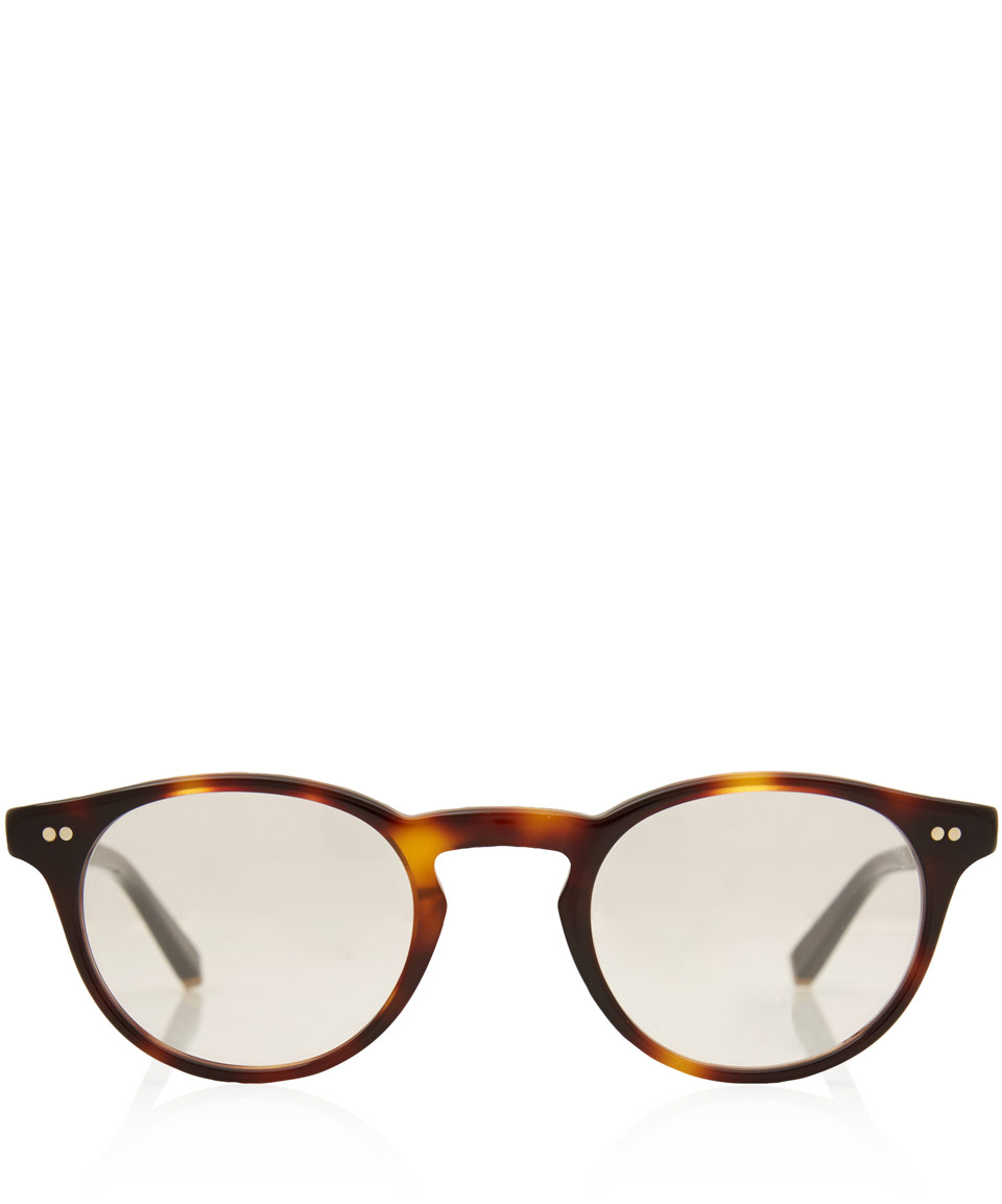 0206110538 Lyst - Moscot Tortoiseshell Two Tone Frankie 45 Glasses in Brown for Men