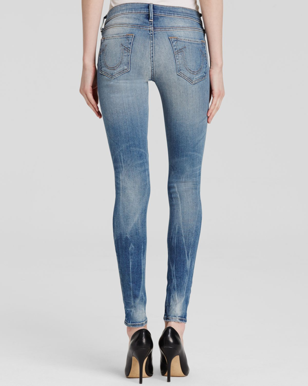 Womens Halle Destroyed Skinny Jeans True Religion