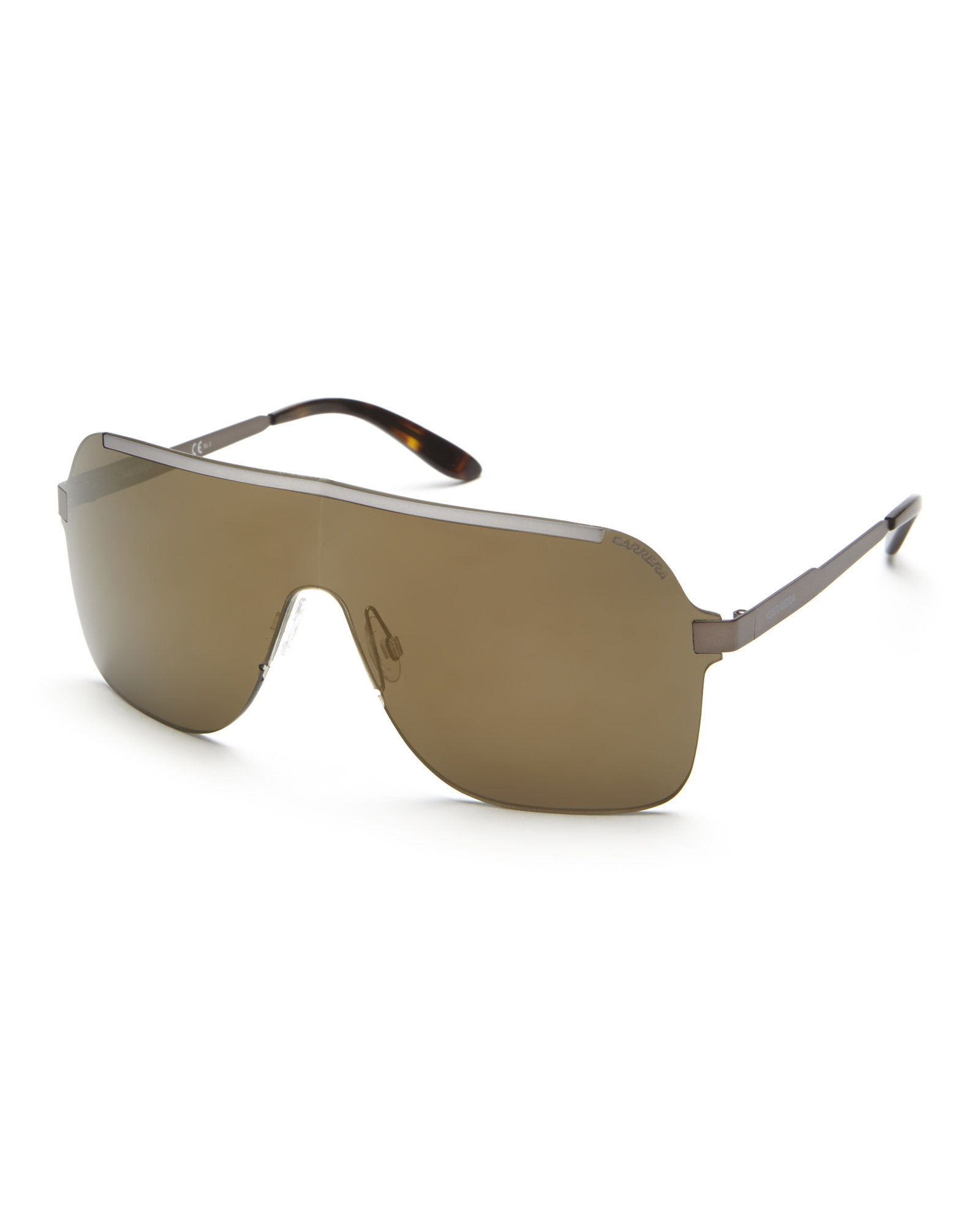 af96a095ea49 Carrera 93/S Rimless Shield Sunglasses in Brown for Men - Lyst