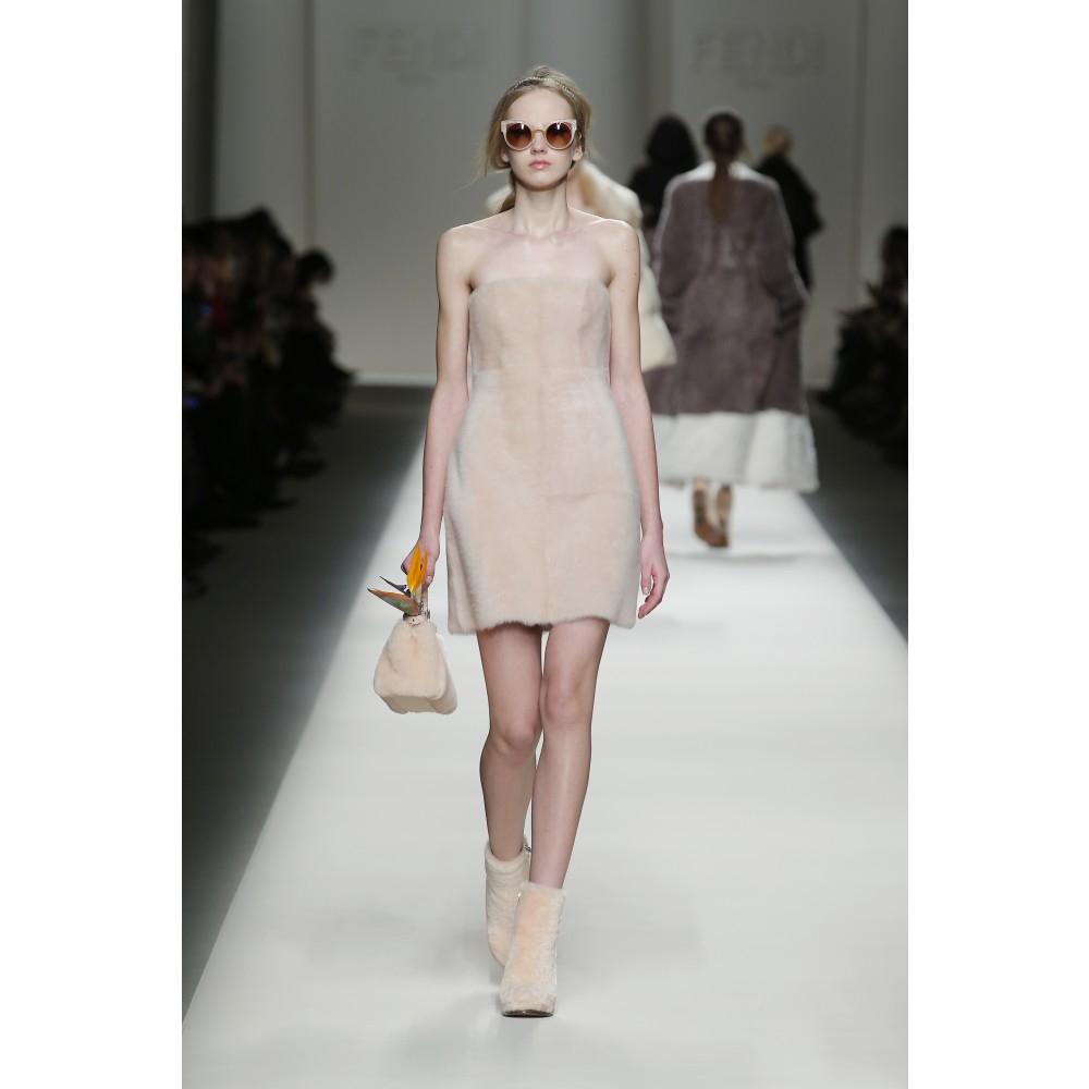 Lyst - Fendi Fur Dress in Natural