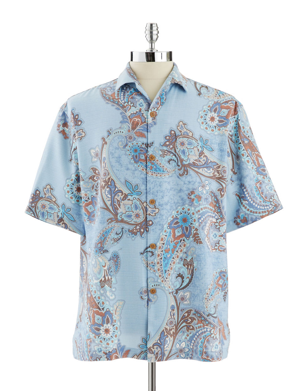 Tommy Bahama Spanish Town Paisley Sport Shirt In Blue For