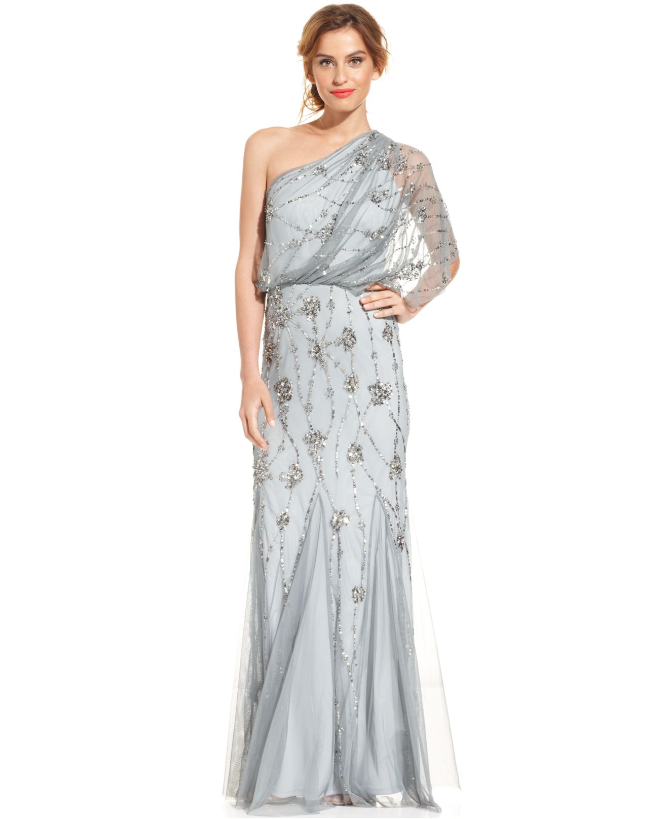 Papell cap sleeve beaded sequined gown dresses women macy s - Gallery Previously Sold At Macy S Women S Adrianna Papell
