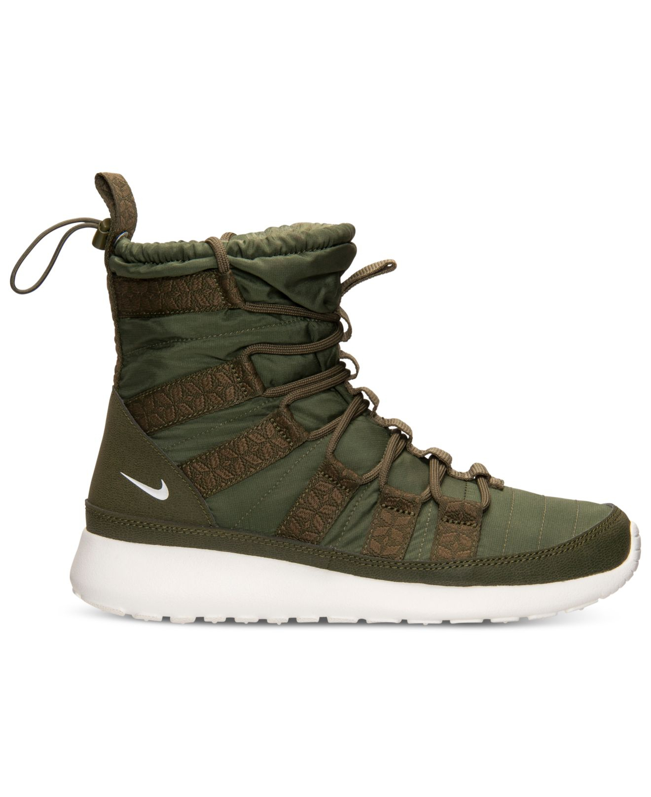online retailer f847c a78d4 Lyst - Nike Women S Roshe Run Hi Sneakerboots From Finish Line in Green