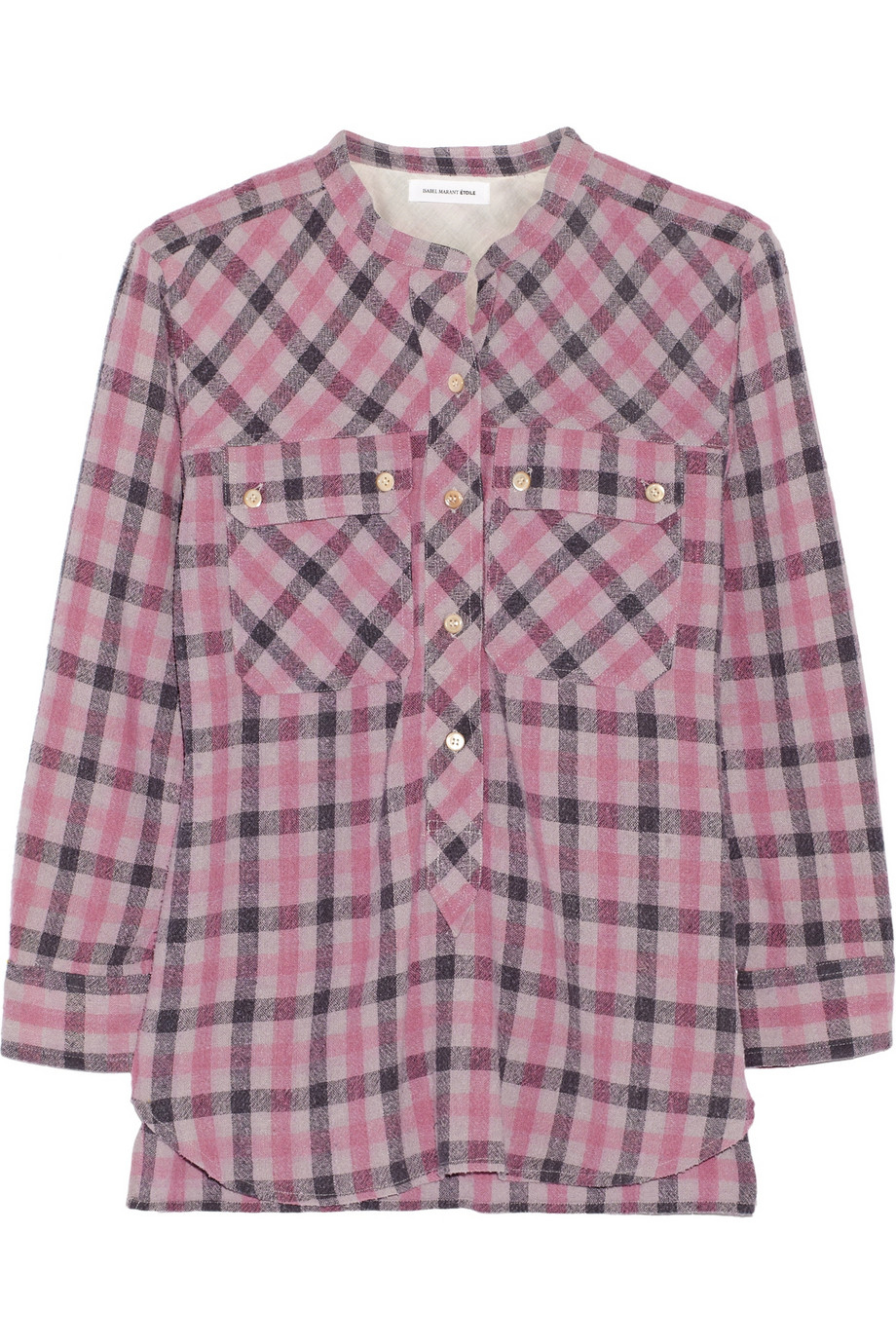 Discount Footaction Étoile Isabel Marant Silk Gingham Blouse Newest Sale Online qvJVXPC